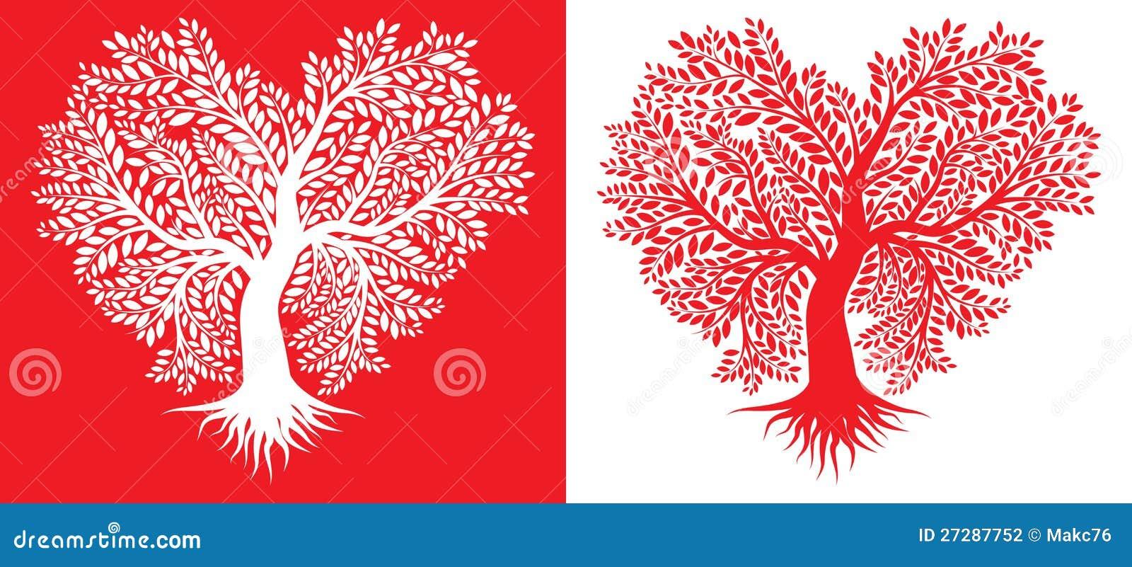 Tree i forma av hjärta