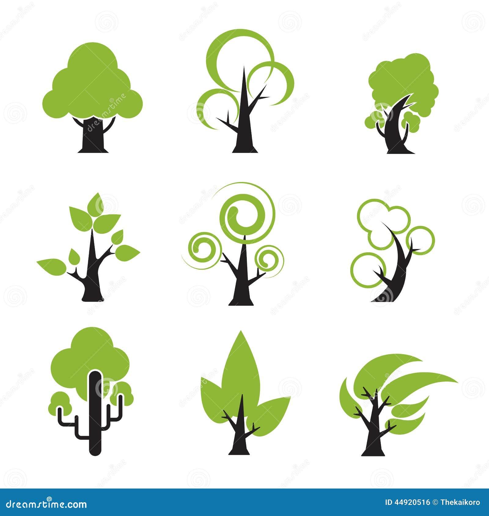 Vector Illustration Tree: Tree Icon 002 Stock Vector