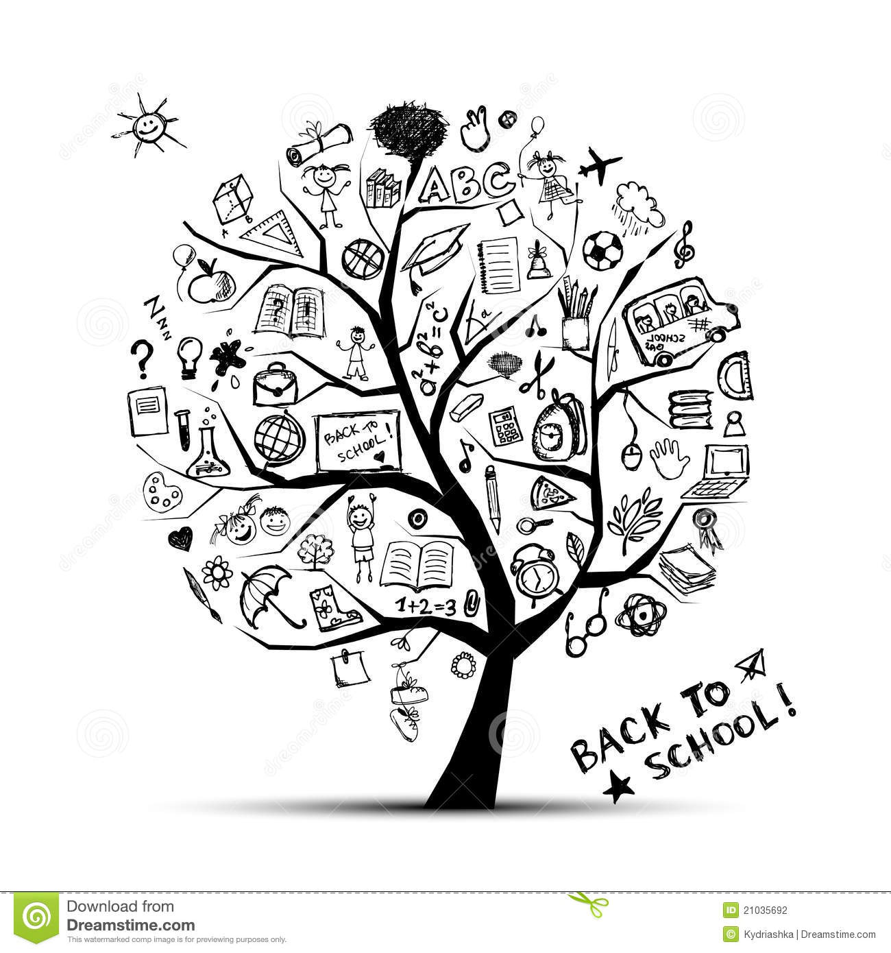 Tree Of Knowledge, Concept Of School Stock Photography - Image ...