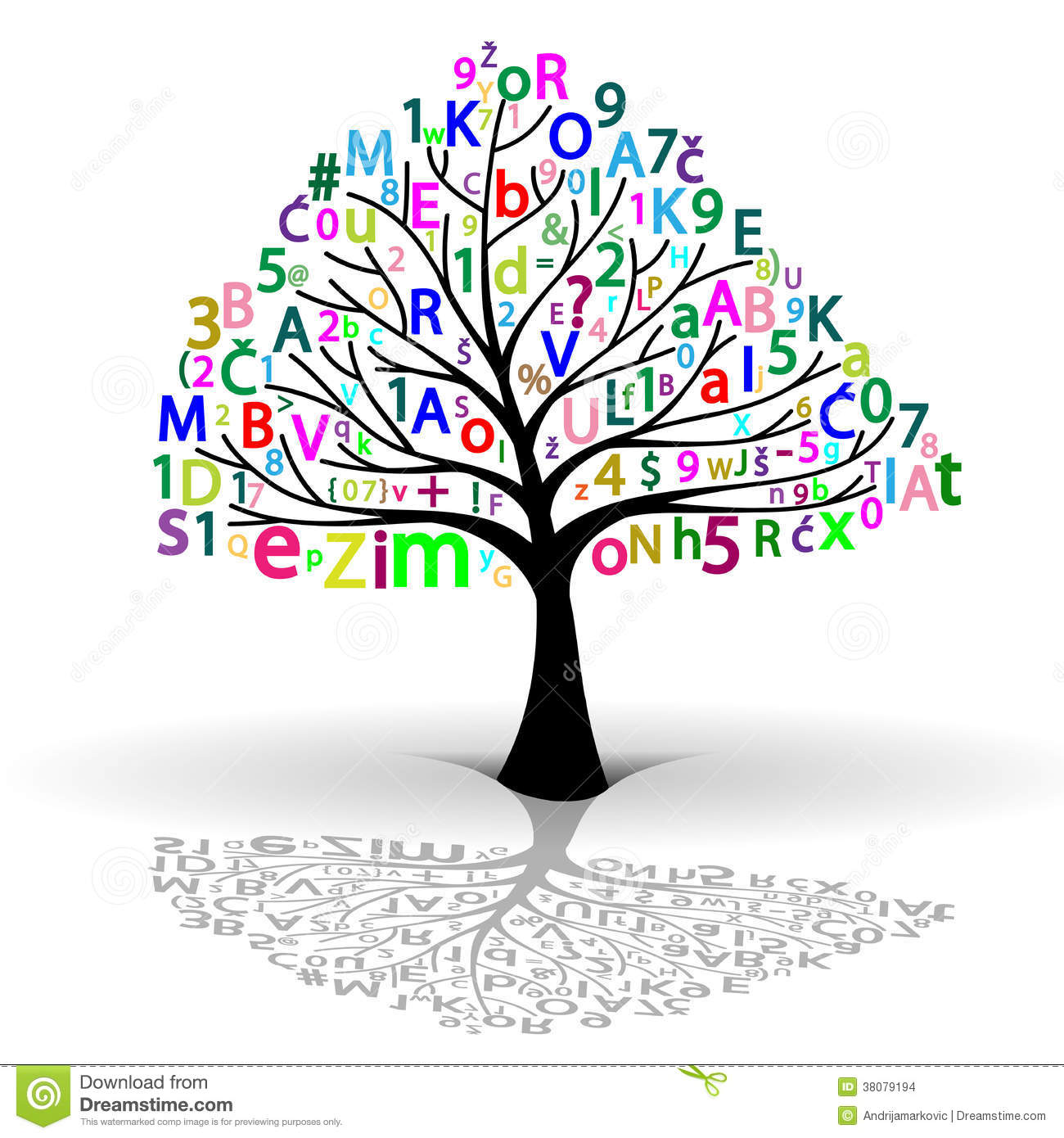 Tree of Knowledge stock vector. Illustration of colorful ...