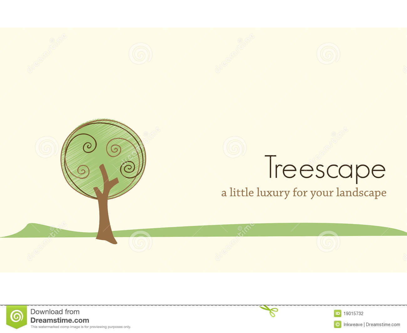 Tree Landscape Business Card Design Stock Vector - Illustration of ...
