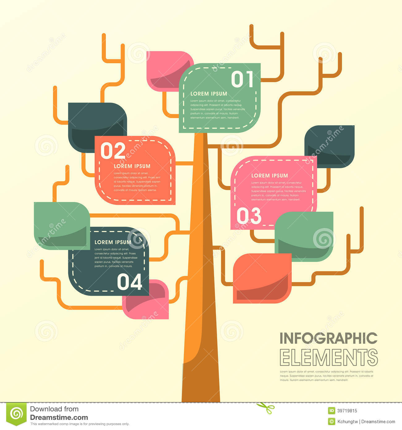 Tree Leaf Infographics Design Stock Vector Image 39719815