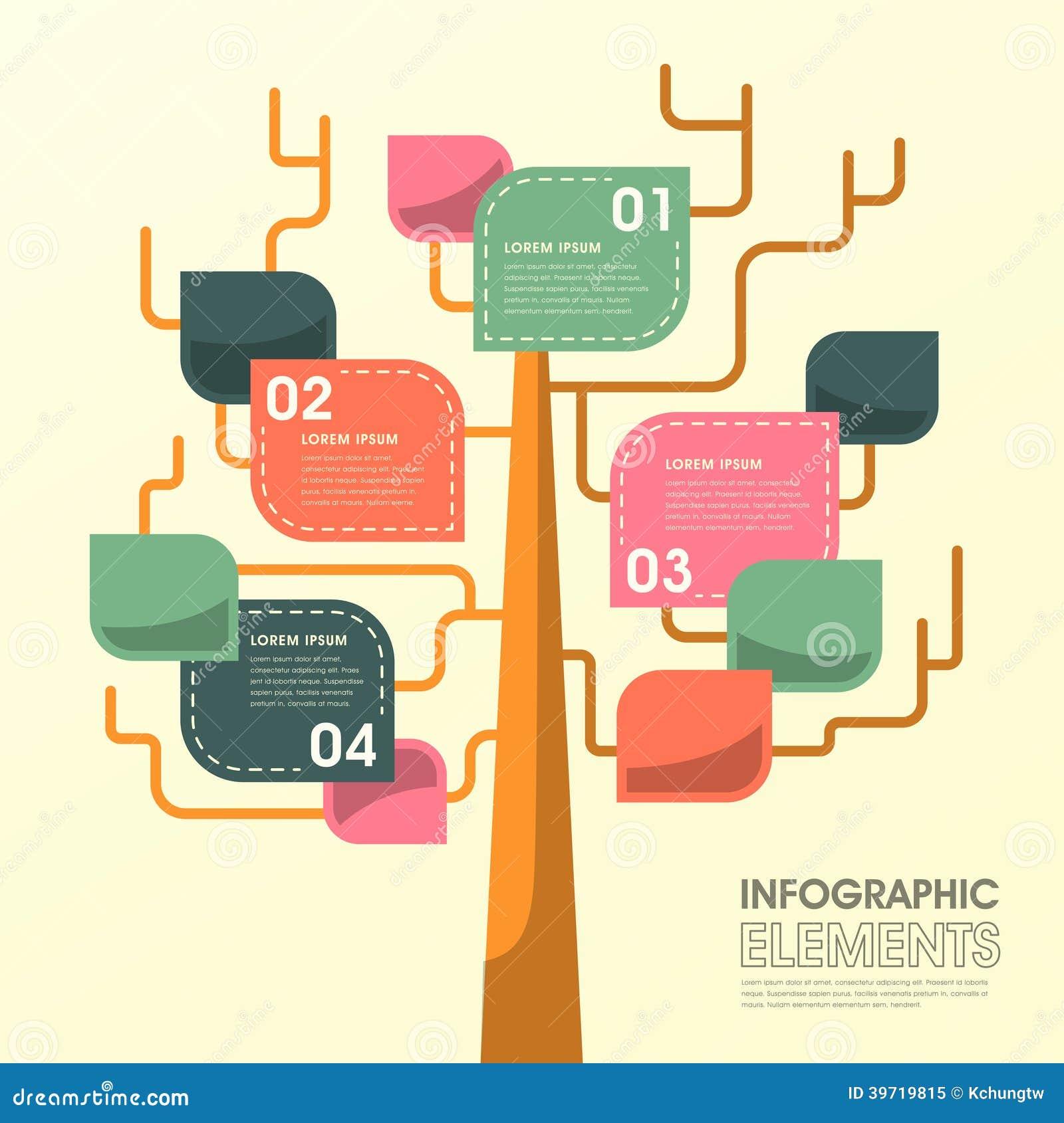 Tree Leaf Infographics Design Stock Vector Image 39719815