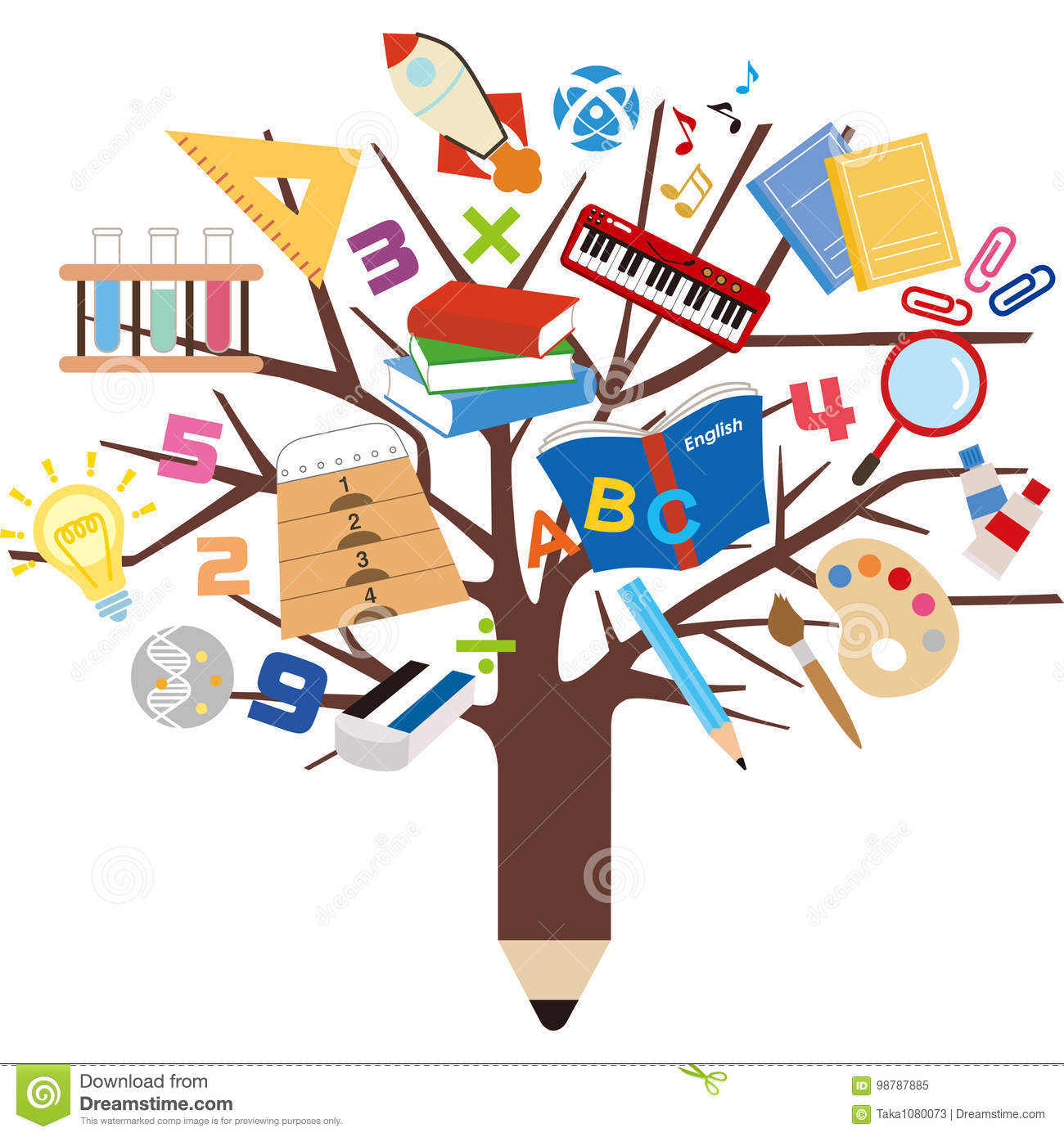 Tree learning tool stock vector. Illustration of learning ...