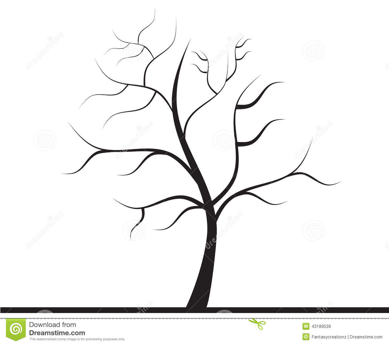 tree without leaves stock photo image 43189539