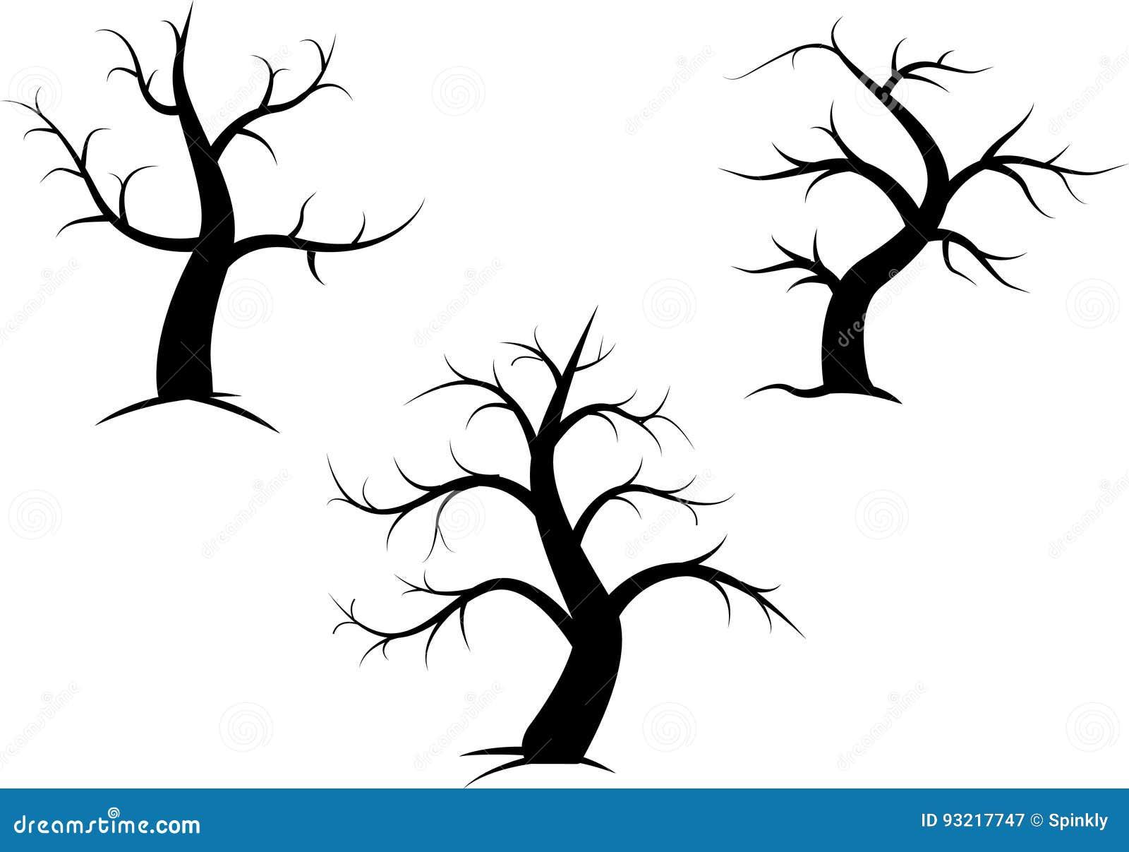 Tree Without Leaves Stock Illustration Illustration Of Adapt 93217747