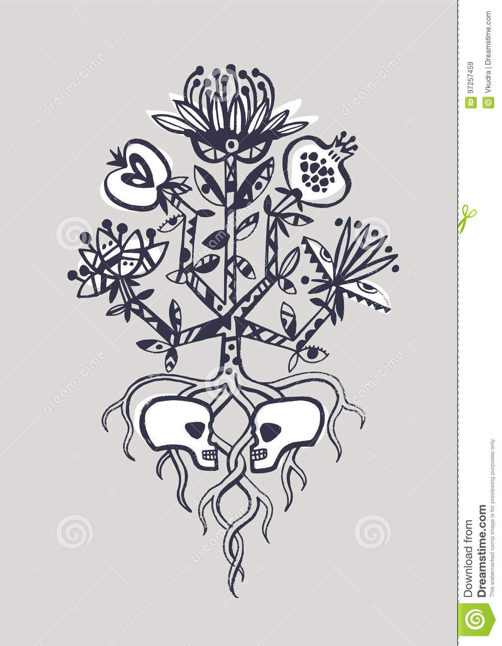 The Tree Of Life Stock Vector Illustration Of Apple 97257459
