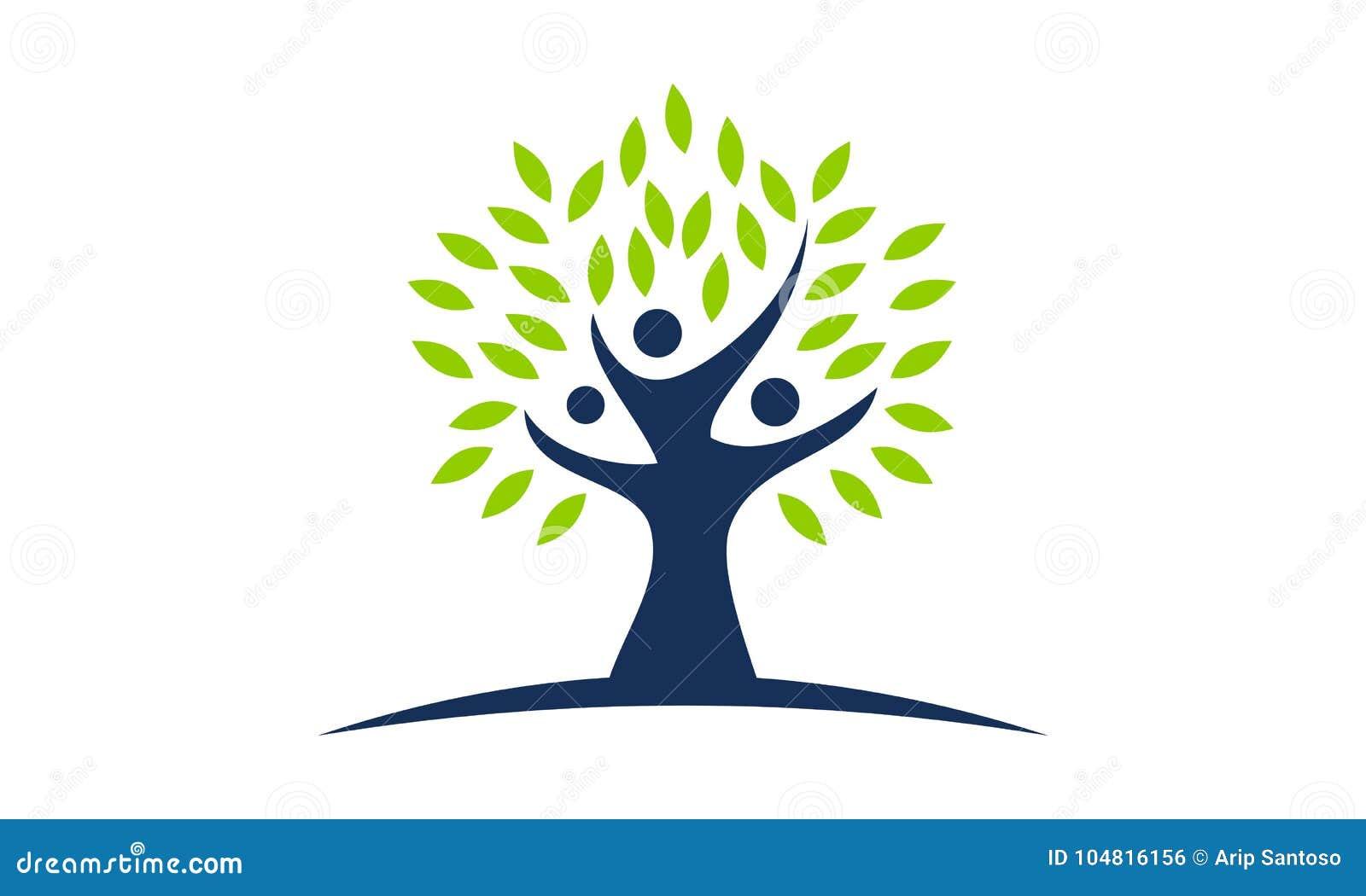 tree of life healing center stock vector illustration of community