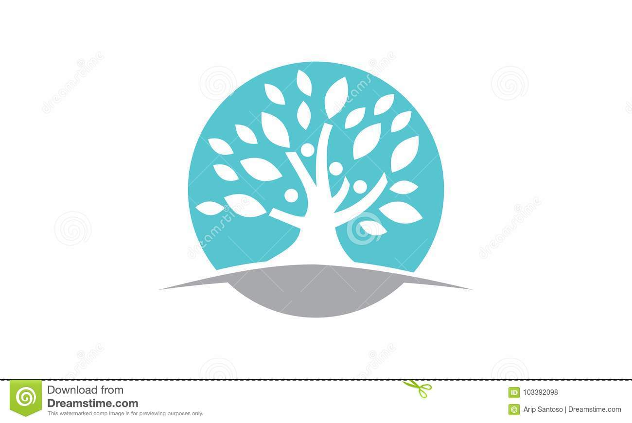 tree of life healing center stock vector illustration of abstract