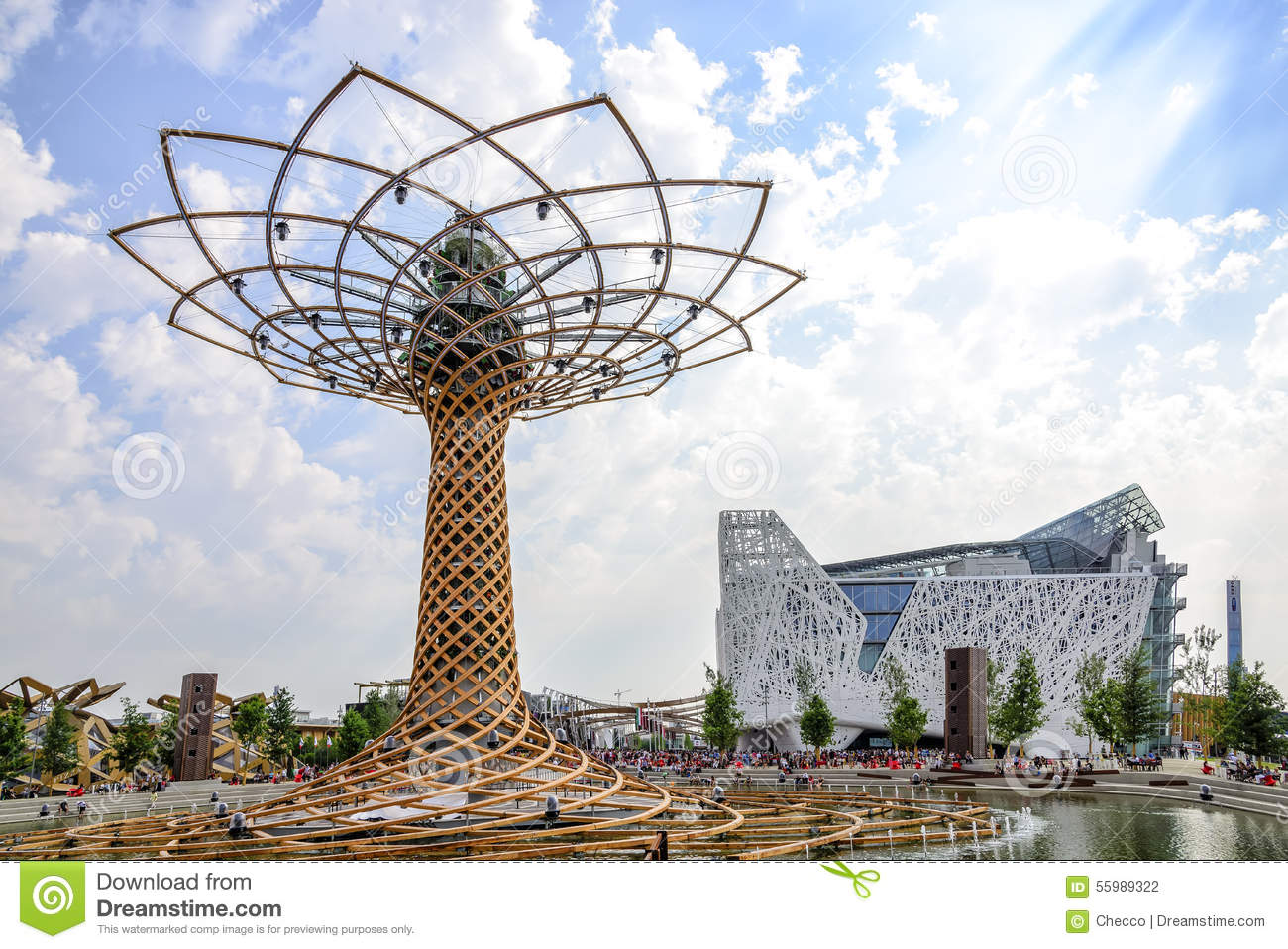 the tree of life and the italian pavilion at expo 2015 in. Black Bedroom Furniture Sets. Home Design Ideas