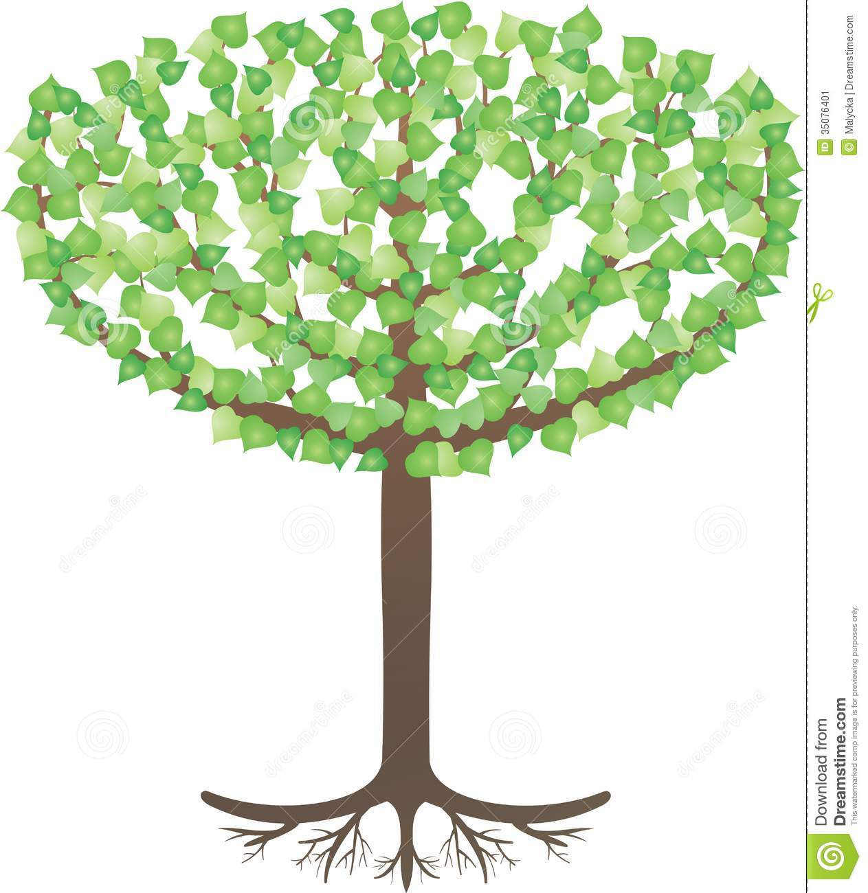 Tree Of Life Stock Vector Illustration Of Forest Education 35076401