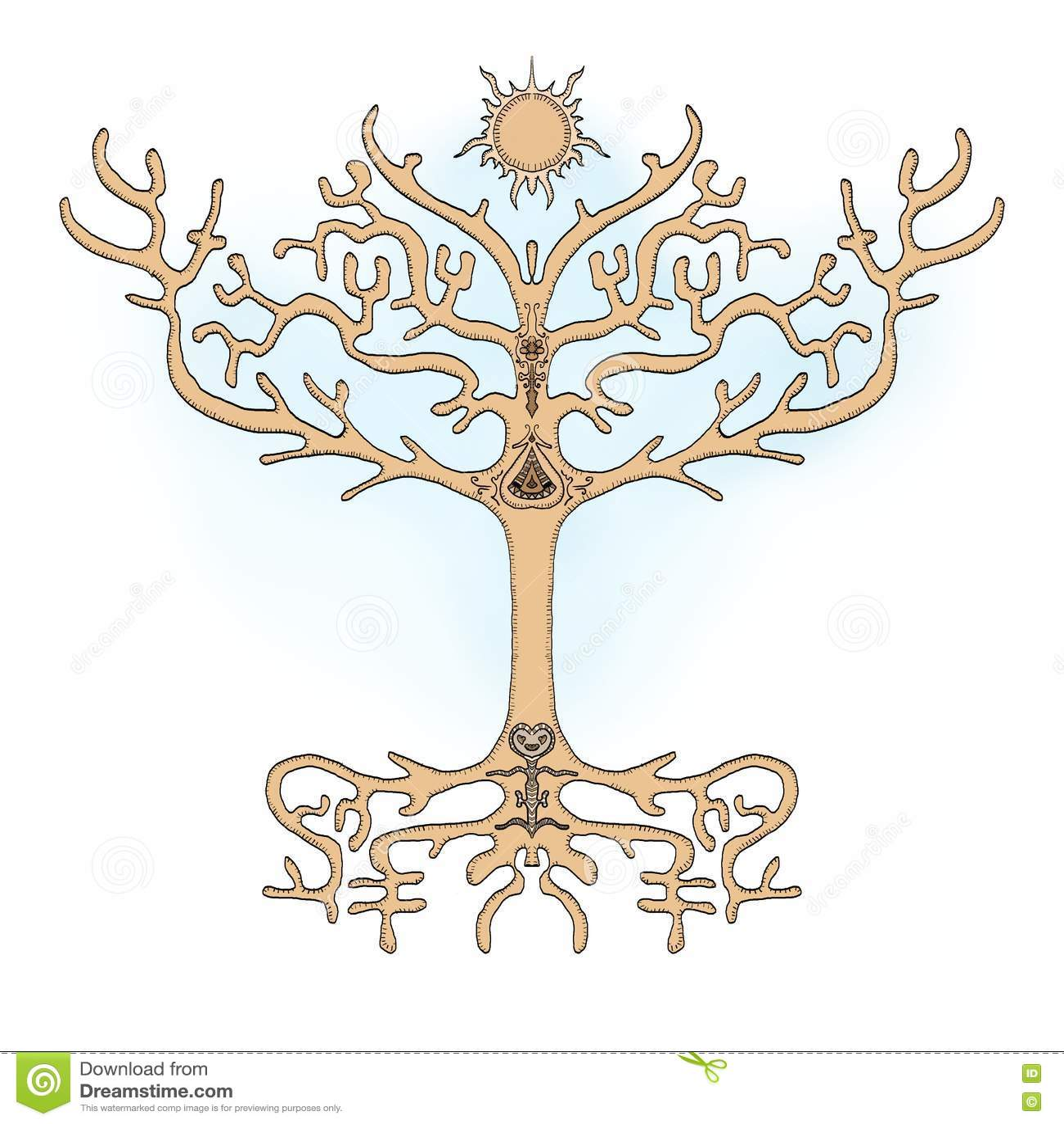 Tree of life ornament - Tree Of Life Symmetric Ornament