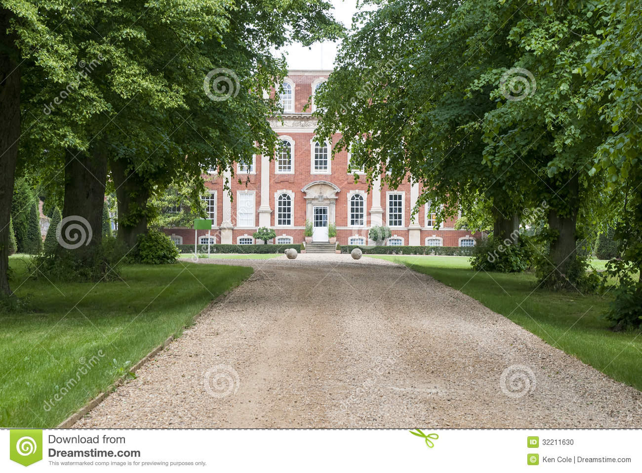 Tree lined driveway to mansion stock photo image of house gravel tree lined driveway to mansion malvernweather Image collections