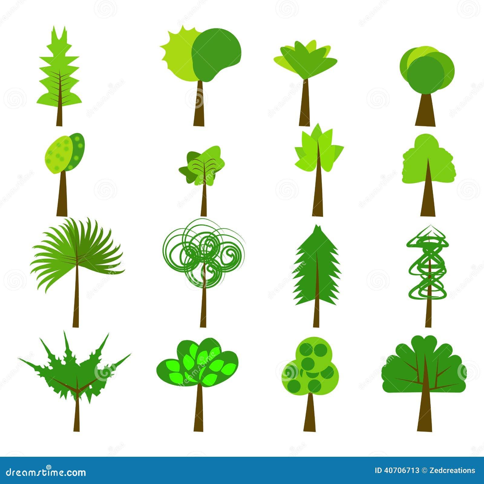 Tree Logo Elements Stock Vector Image 40706713