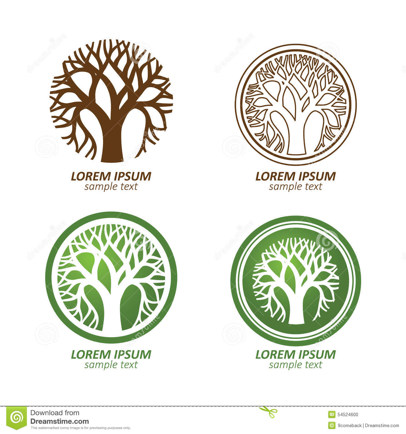 Tree Logo Stock Vector - Image: 54524600