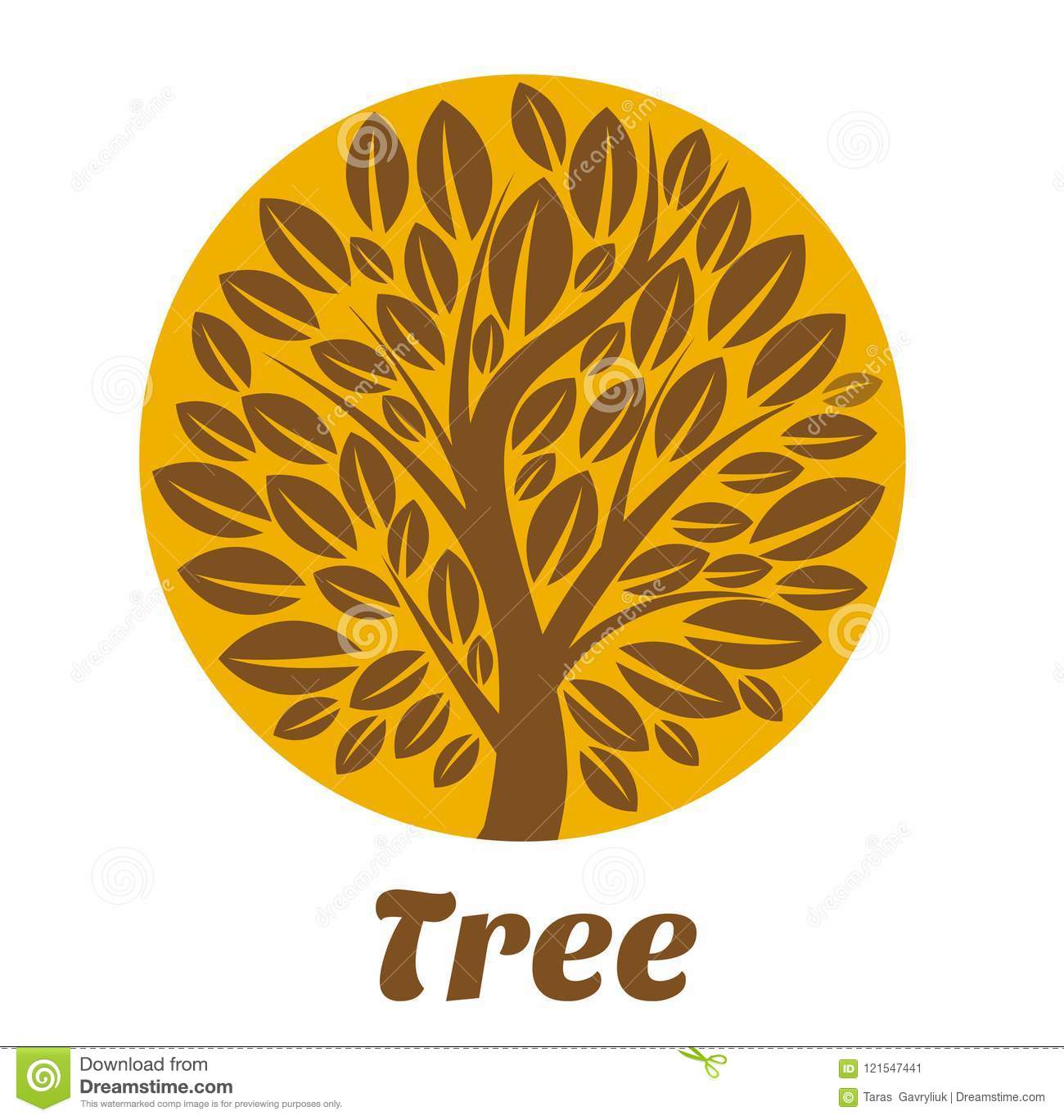 Tree logo template stock vector. Illustration of growth - 121547441