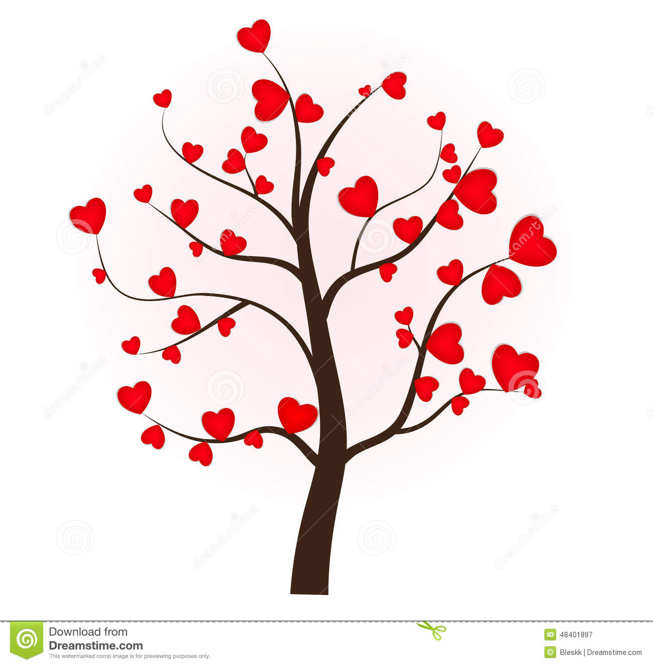 tree love heart valentines day wedding lovers tree of love