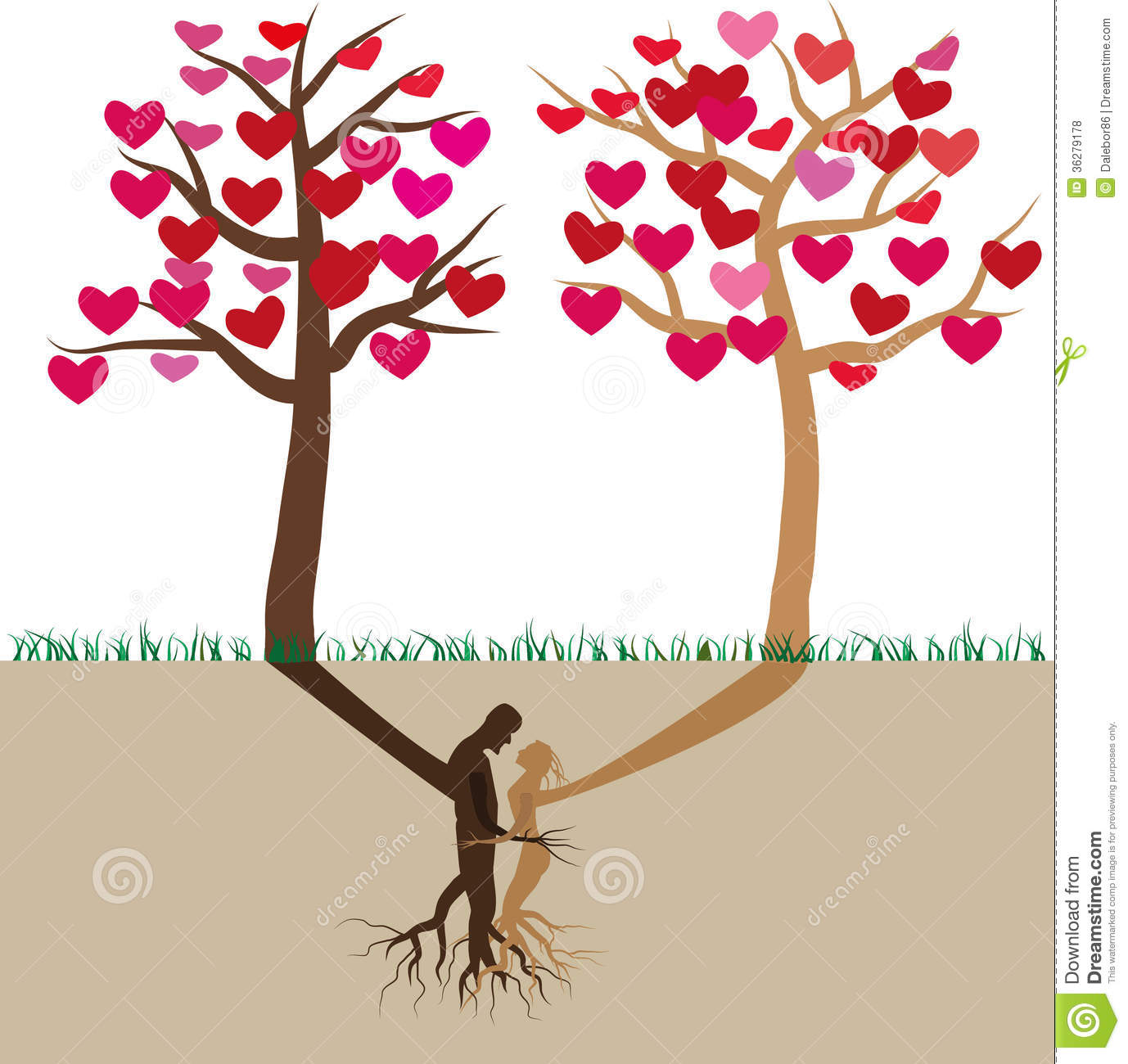 Tree In Love Royalty Free Stock Photos Image 36279178