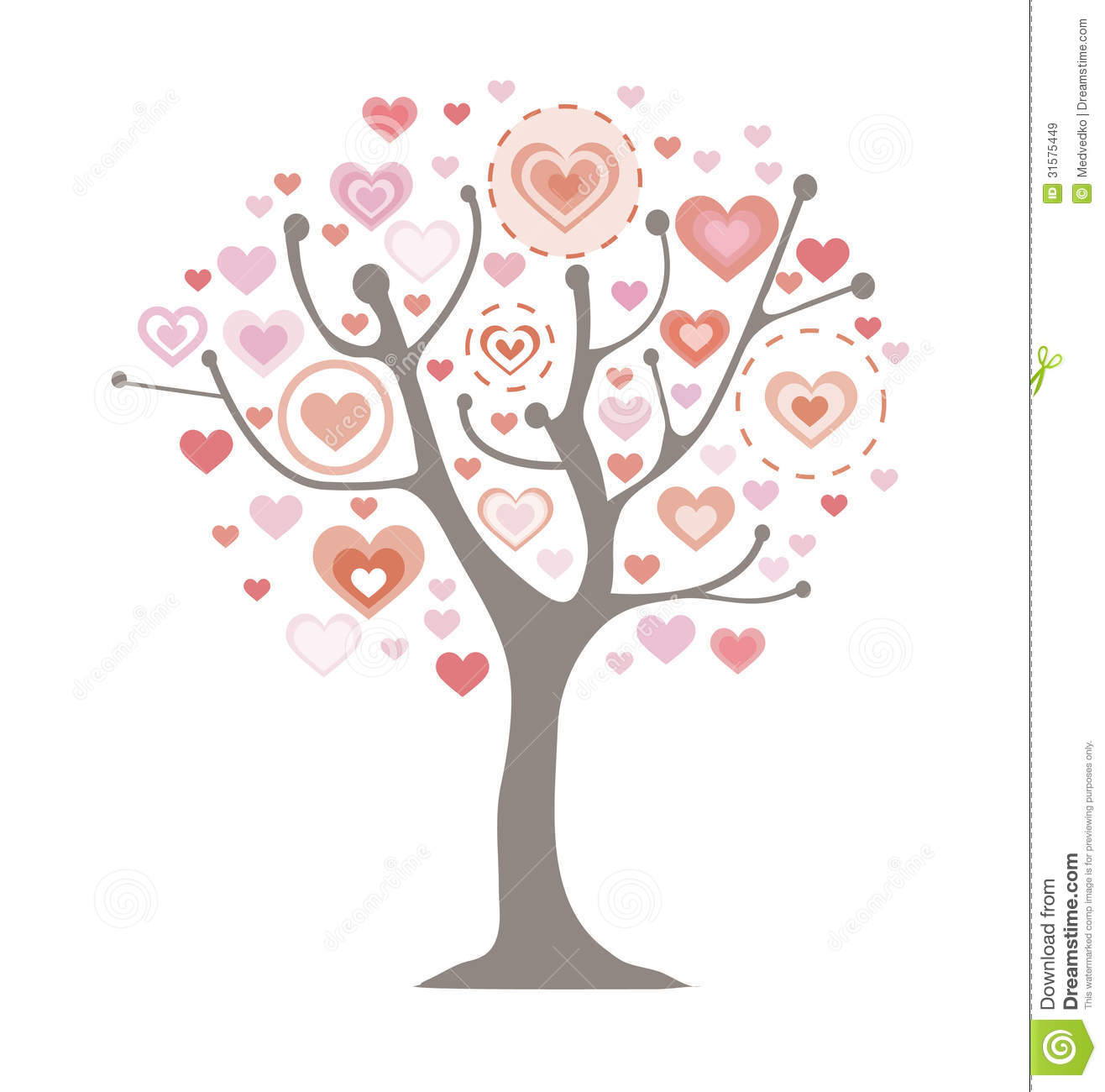 Tree Of Love Royalty Free Stock Images - Image: 31575449
