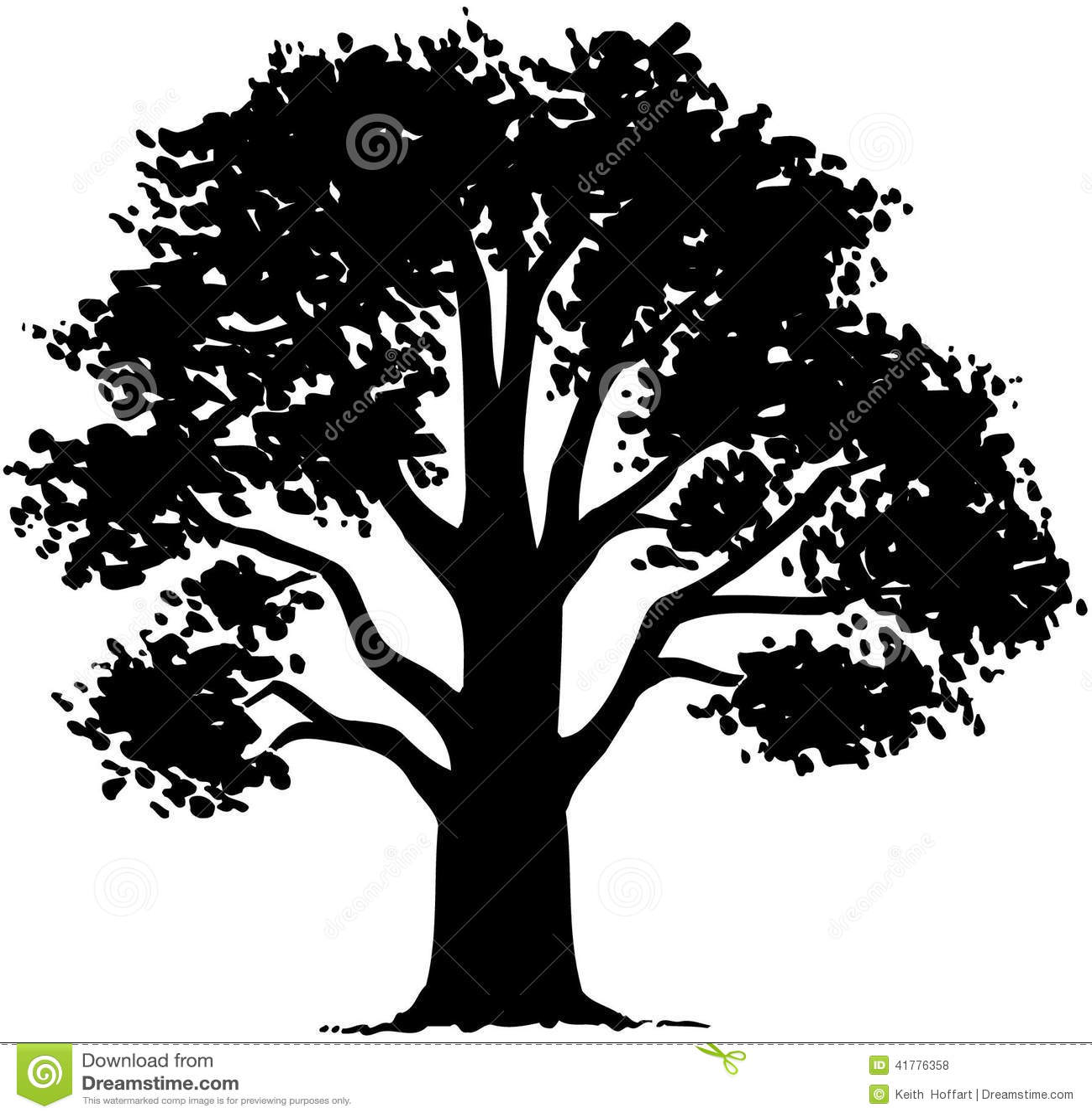Tree nature leaf cartoon vector clipart stock vector image 41776358