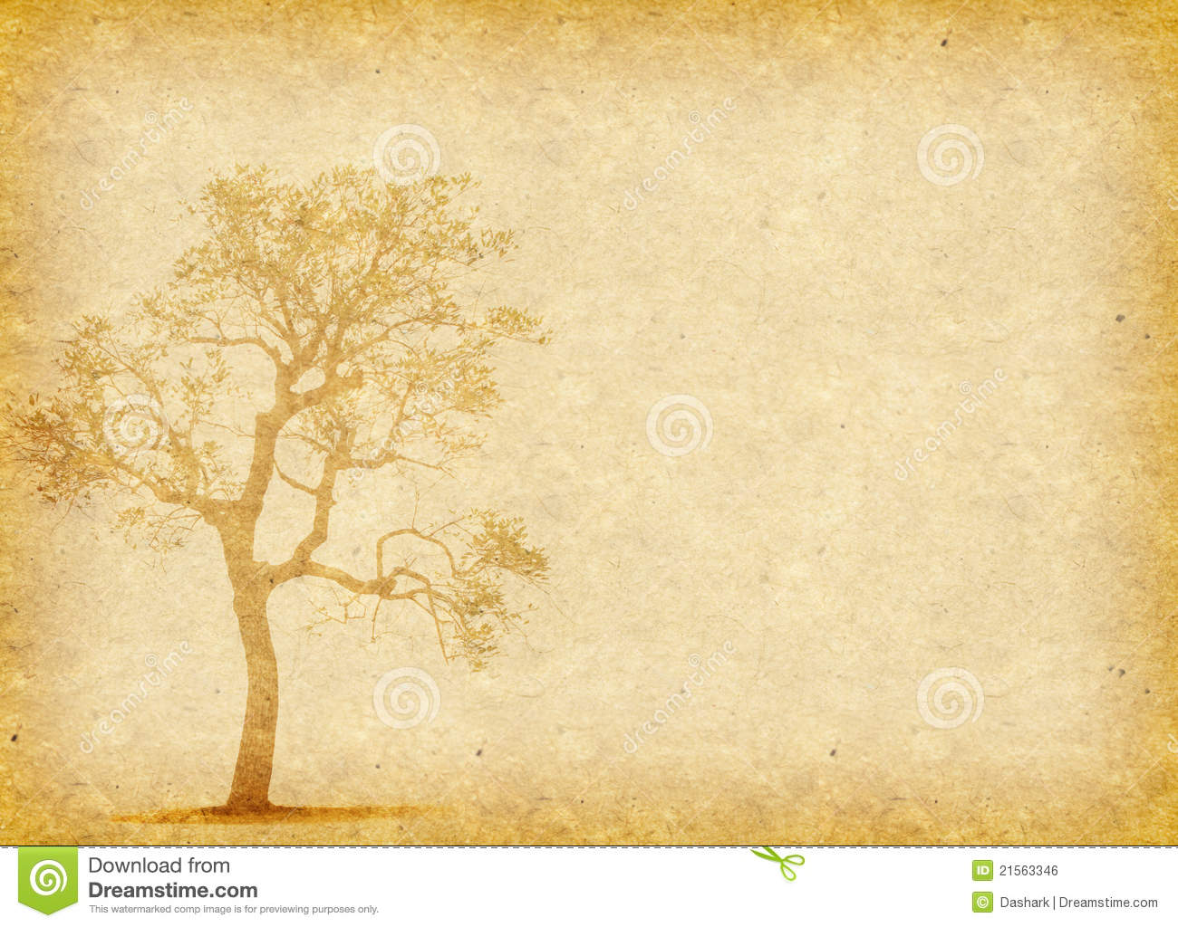 Tree With Old Paper Royalty Free Stock Image - Image: 21563346