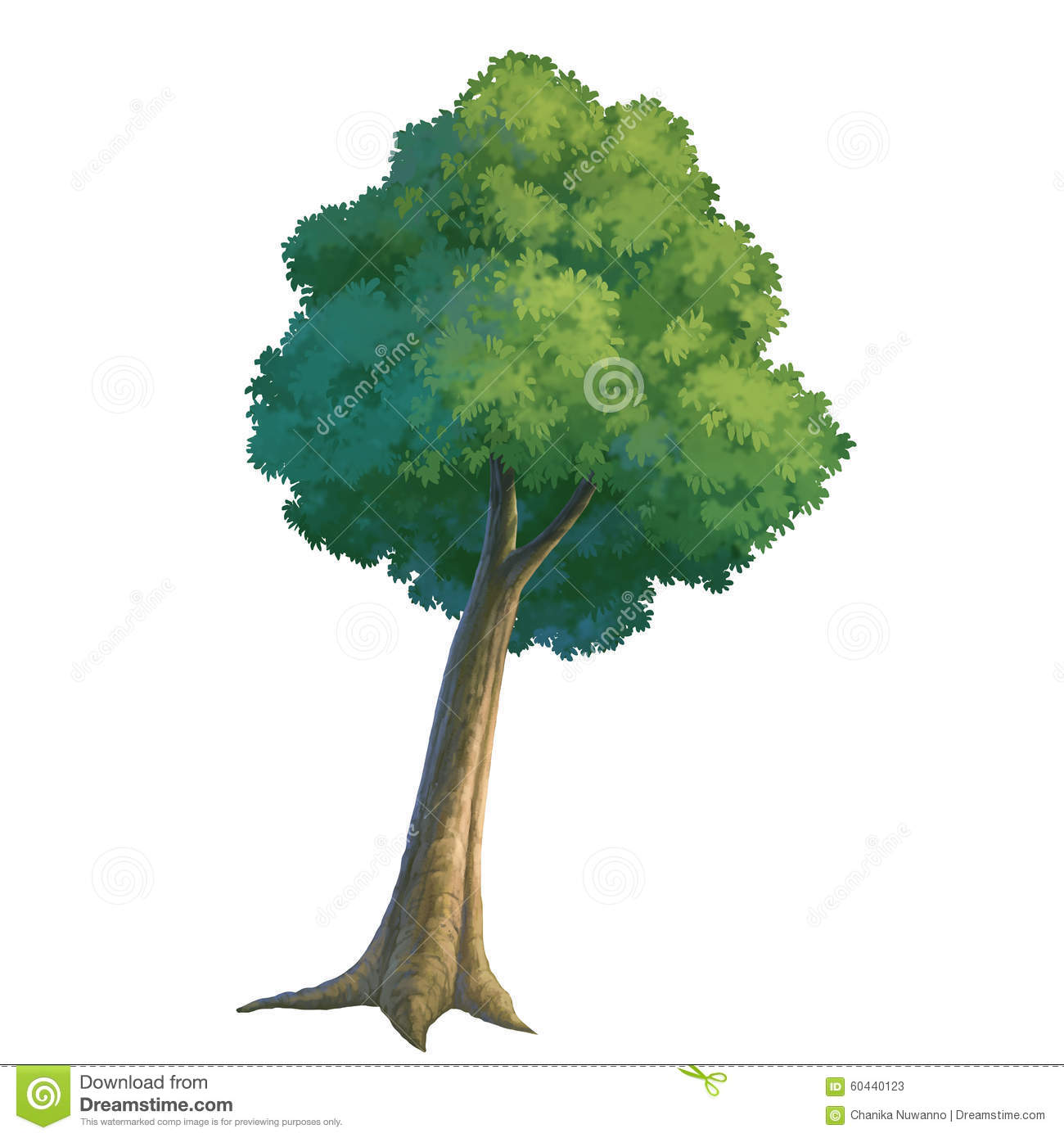 Tree paint stock illustration image 60440123 for How to paint a tree