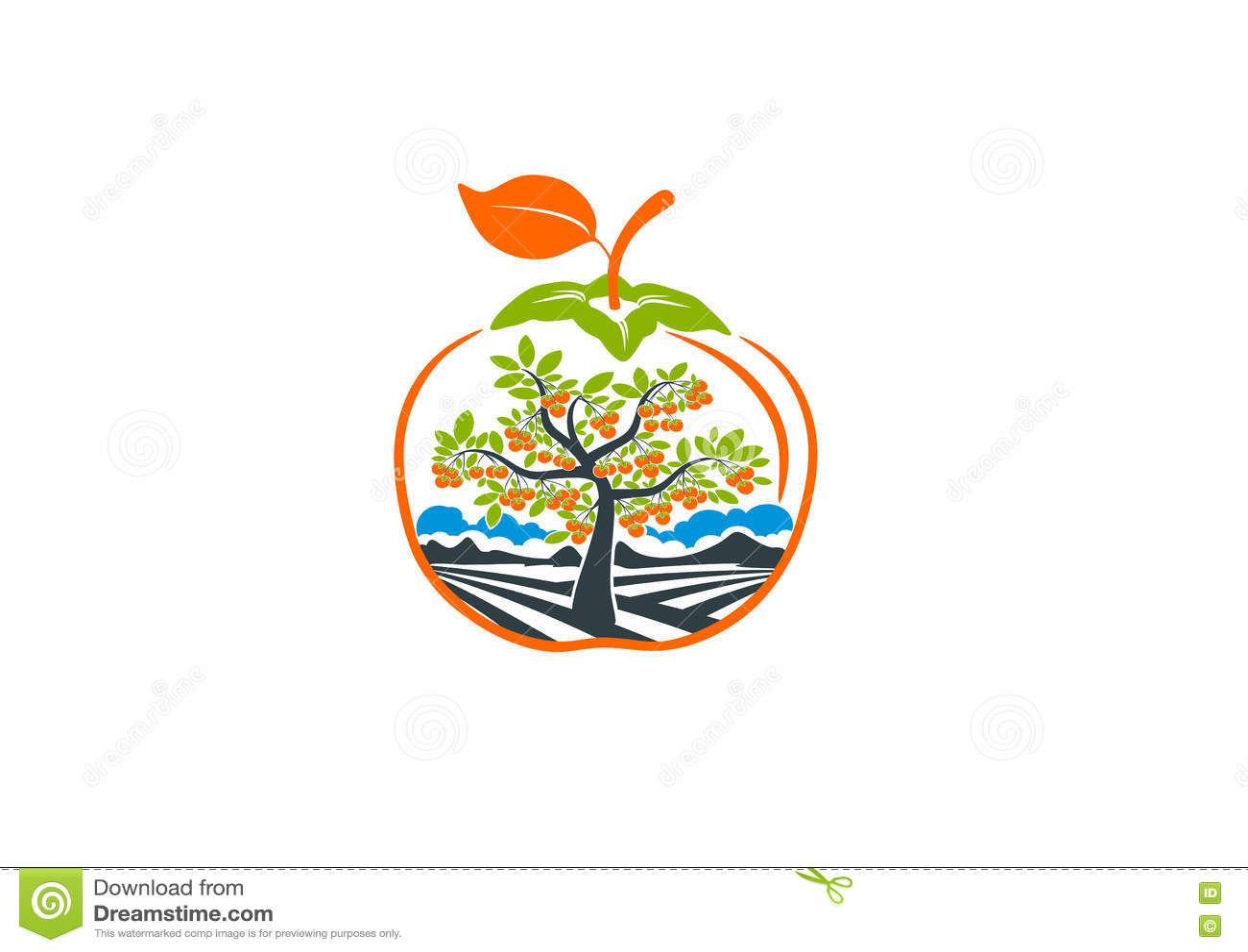 Tree persimmon logo
