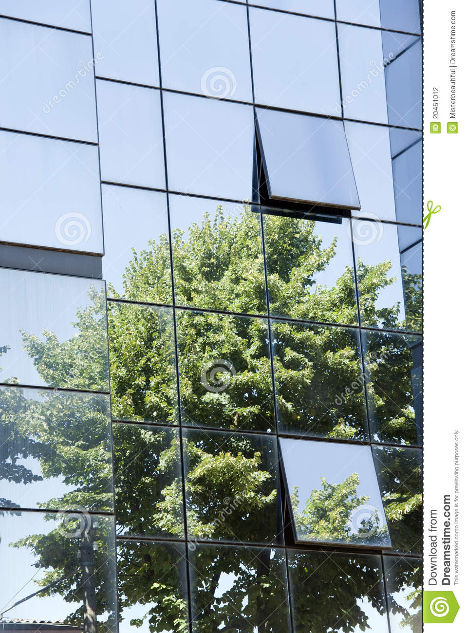 Tree Reflection In The Glass Palace Stock Photography