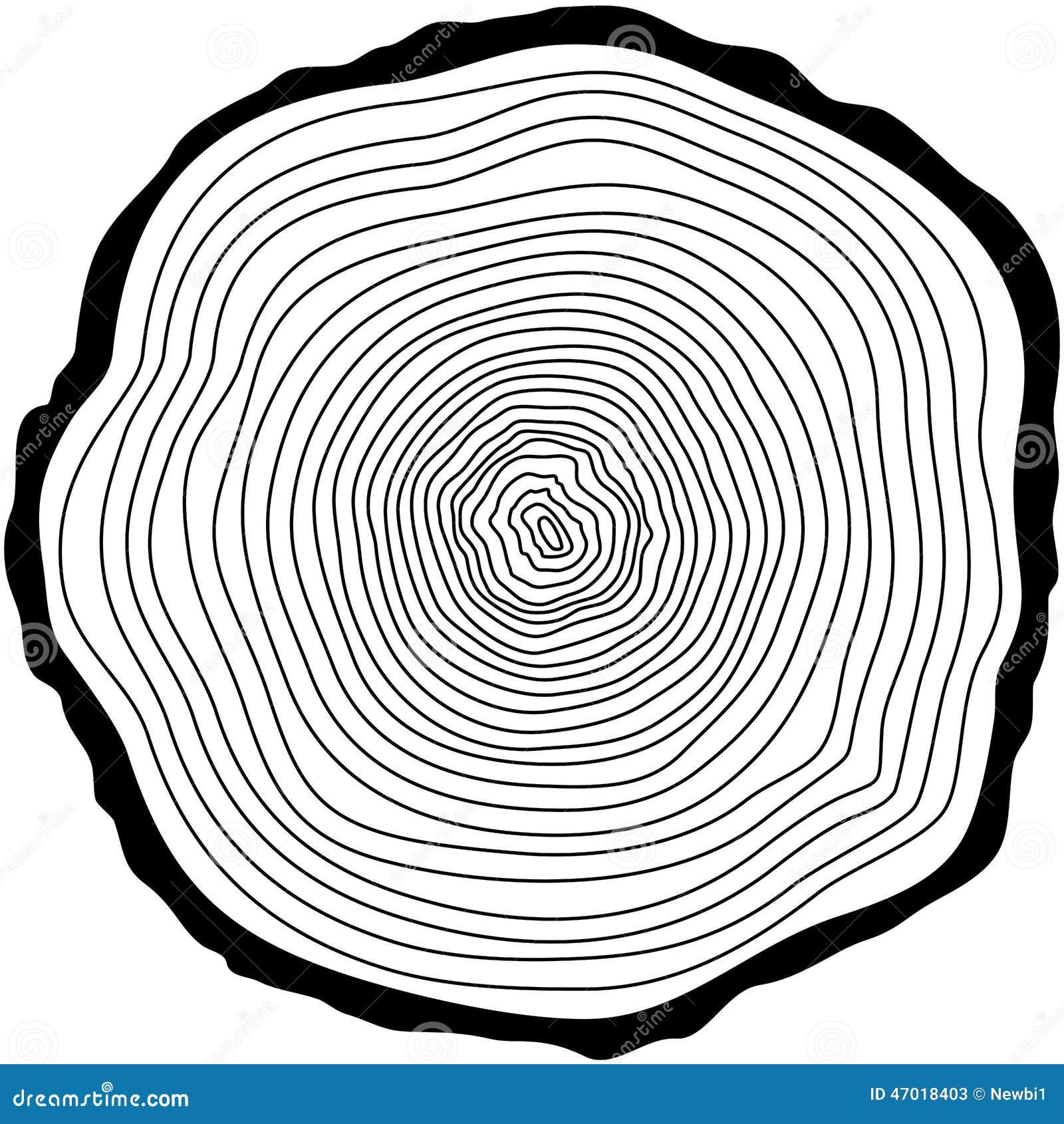 Tree Rings Stock Vector Illustration Of Circle Lumber 47018403