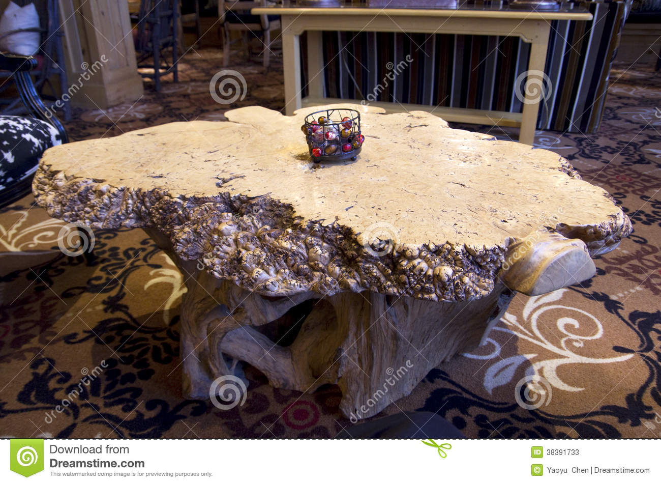 Tree Root Coffee Or Tea Table Stock Photos Image 38391733
