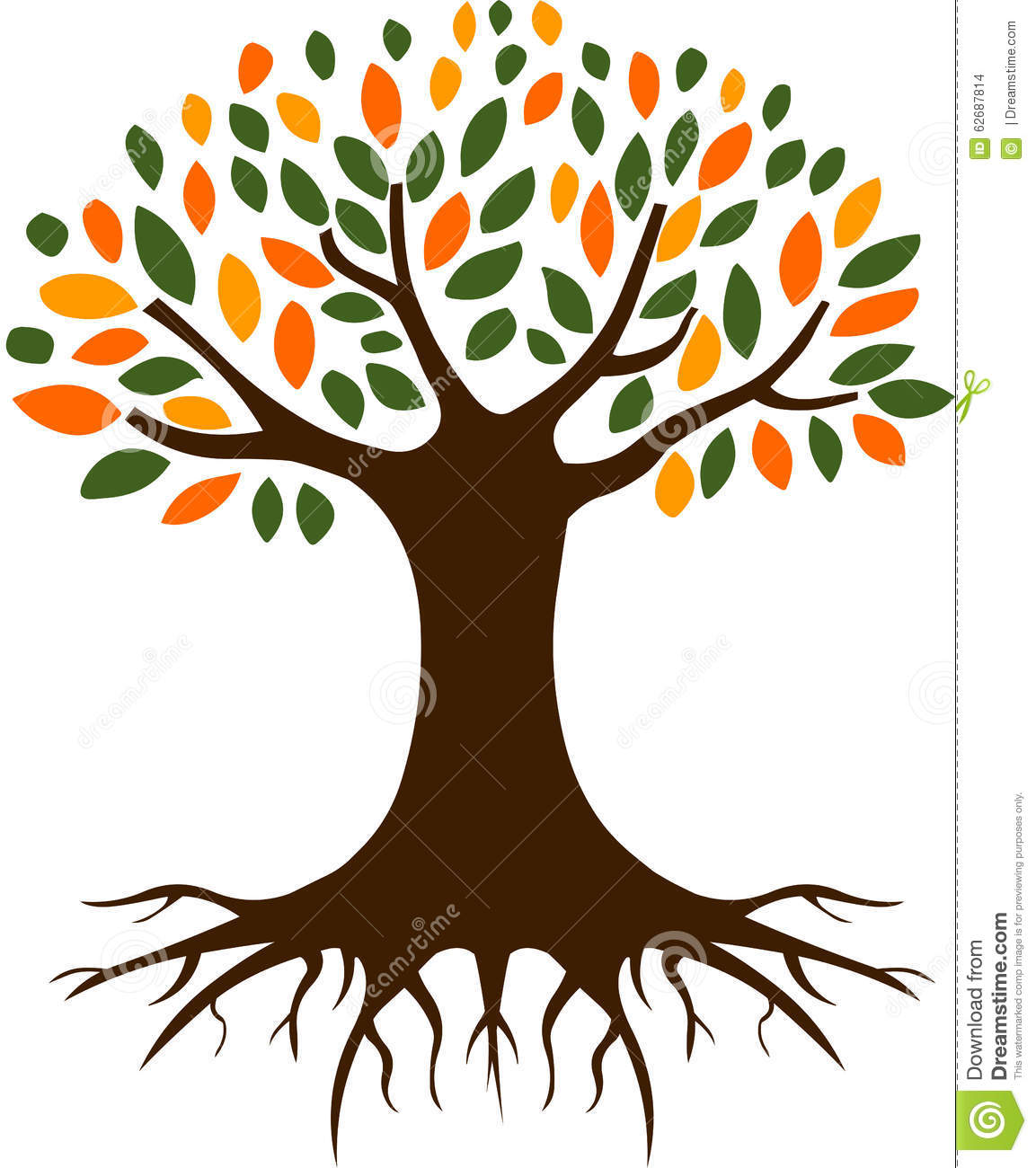 tree and roots illustration stock vector image 62687814 tree and roots clipart plant with roots clipart
