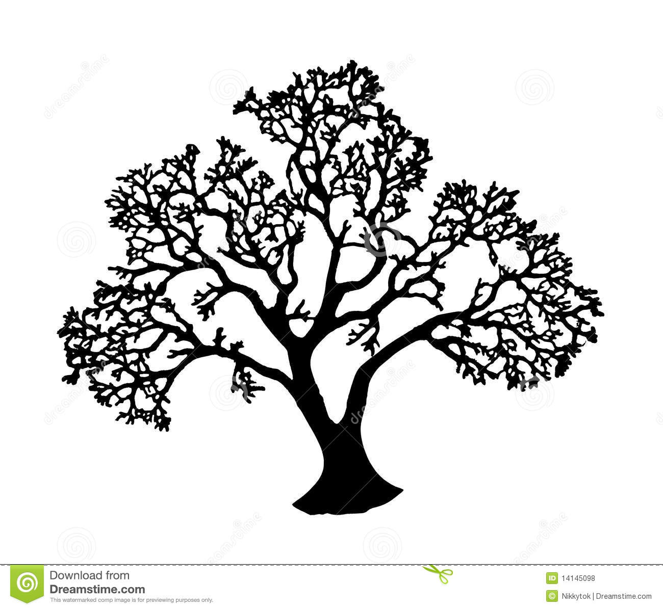 Tree Silhouette Royalty Free Stock Photos - Image: 14145098