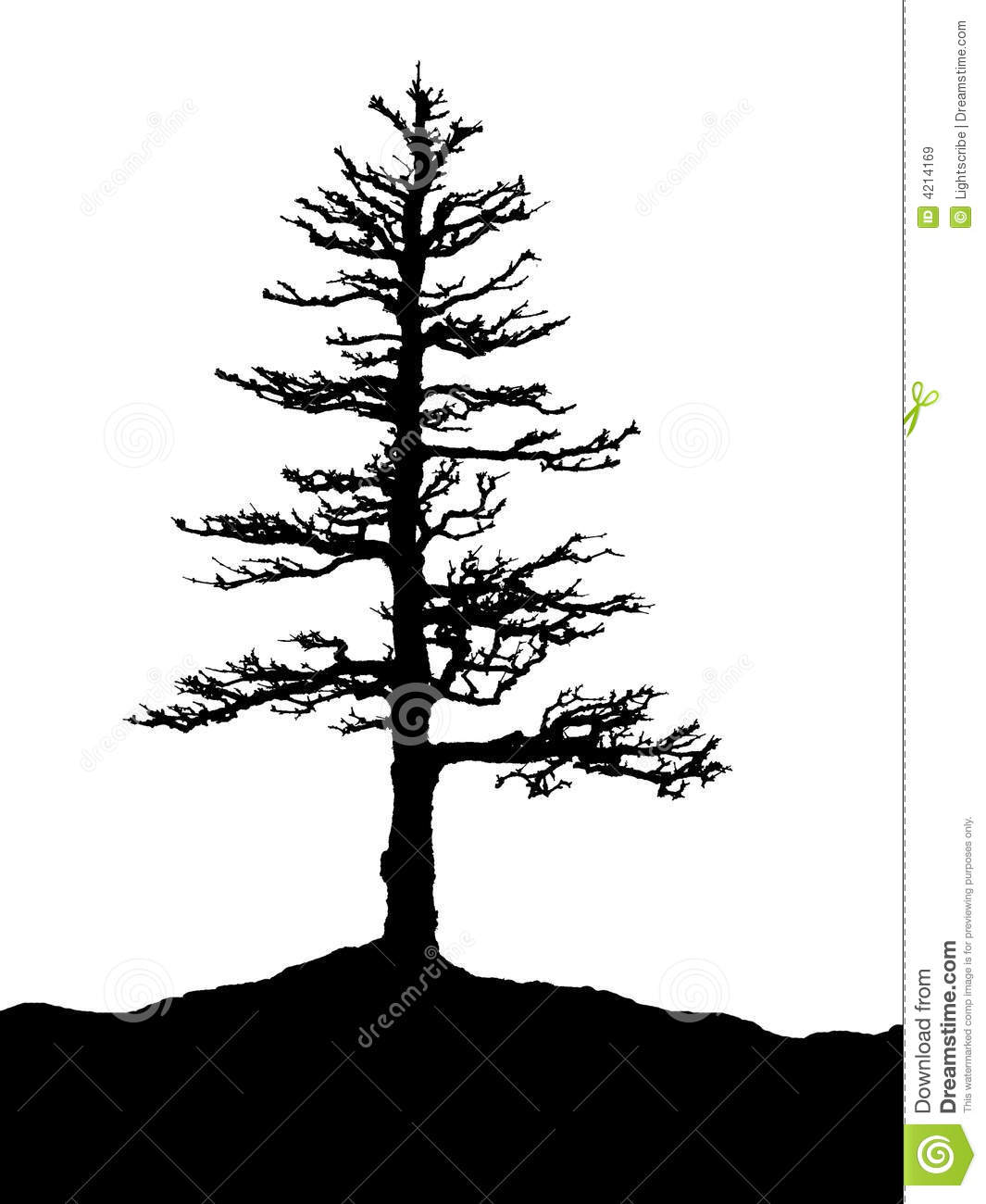 Tree Silhouette Royalty Free Stock Images - Image: 4214169