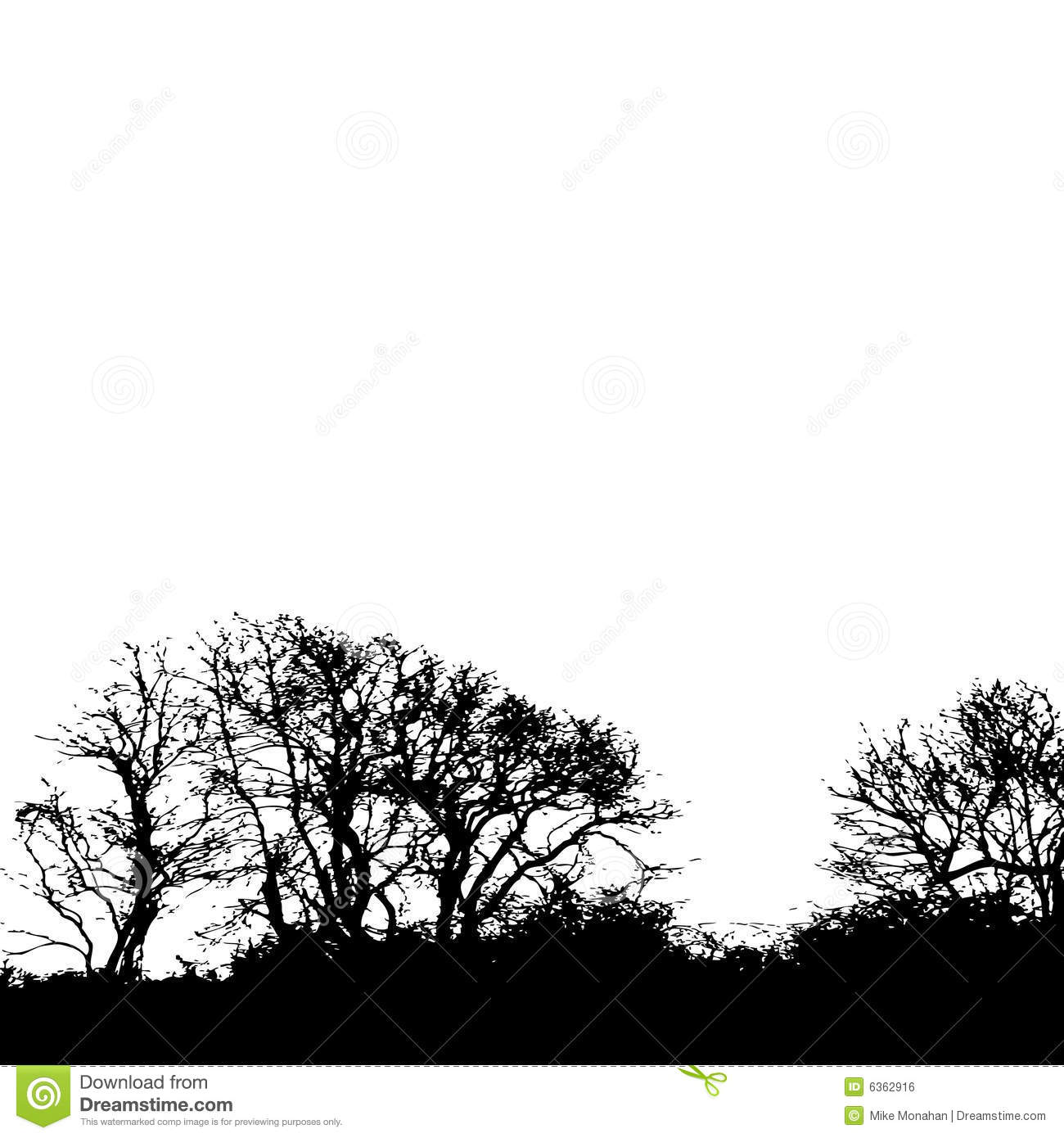 Tree Silhouette Background Royalty Free Stock Image
