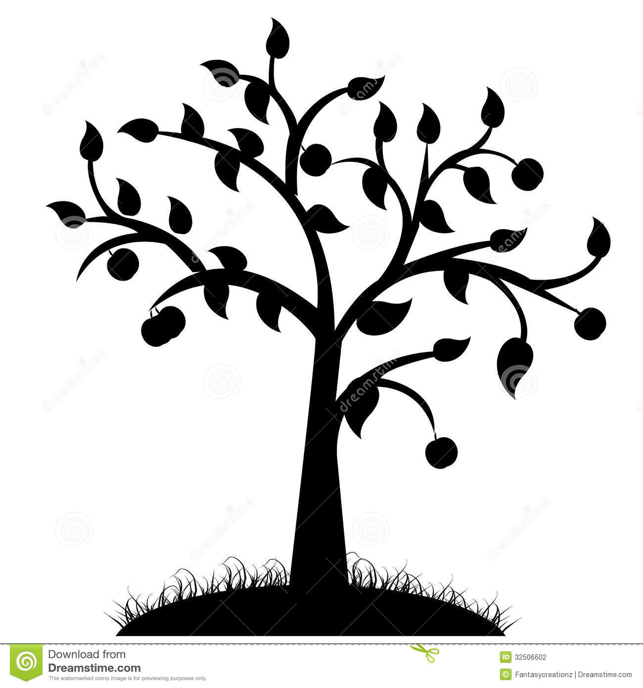Tree Silhouette Stock Photography - Image: 32506602