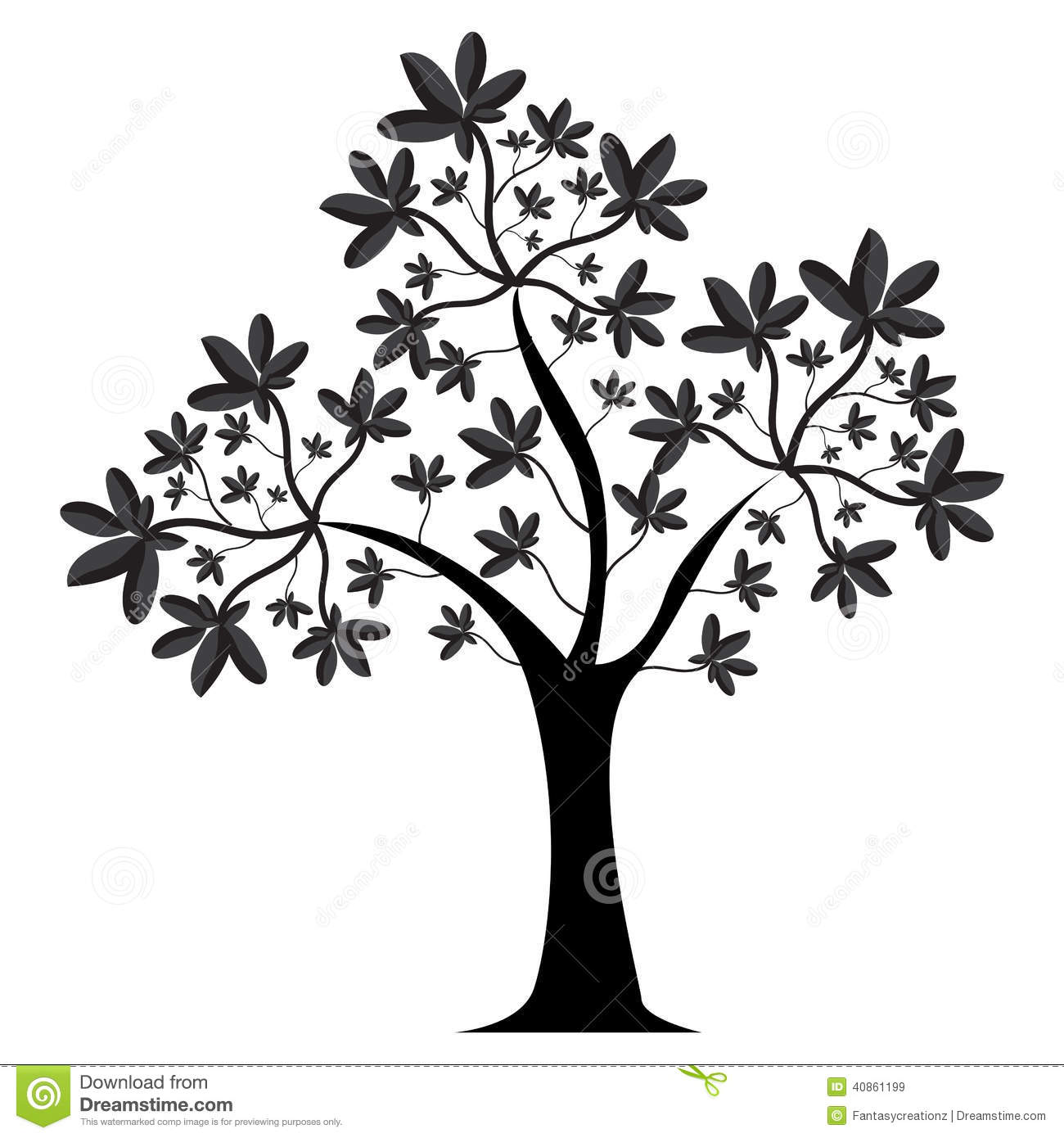 tree silhouette stock vector illustration of simple