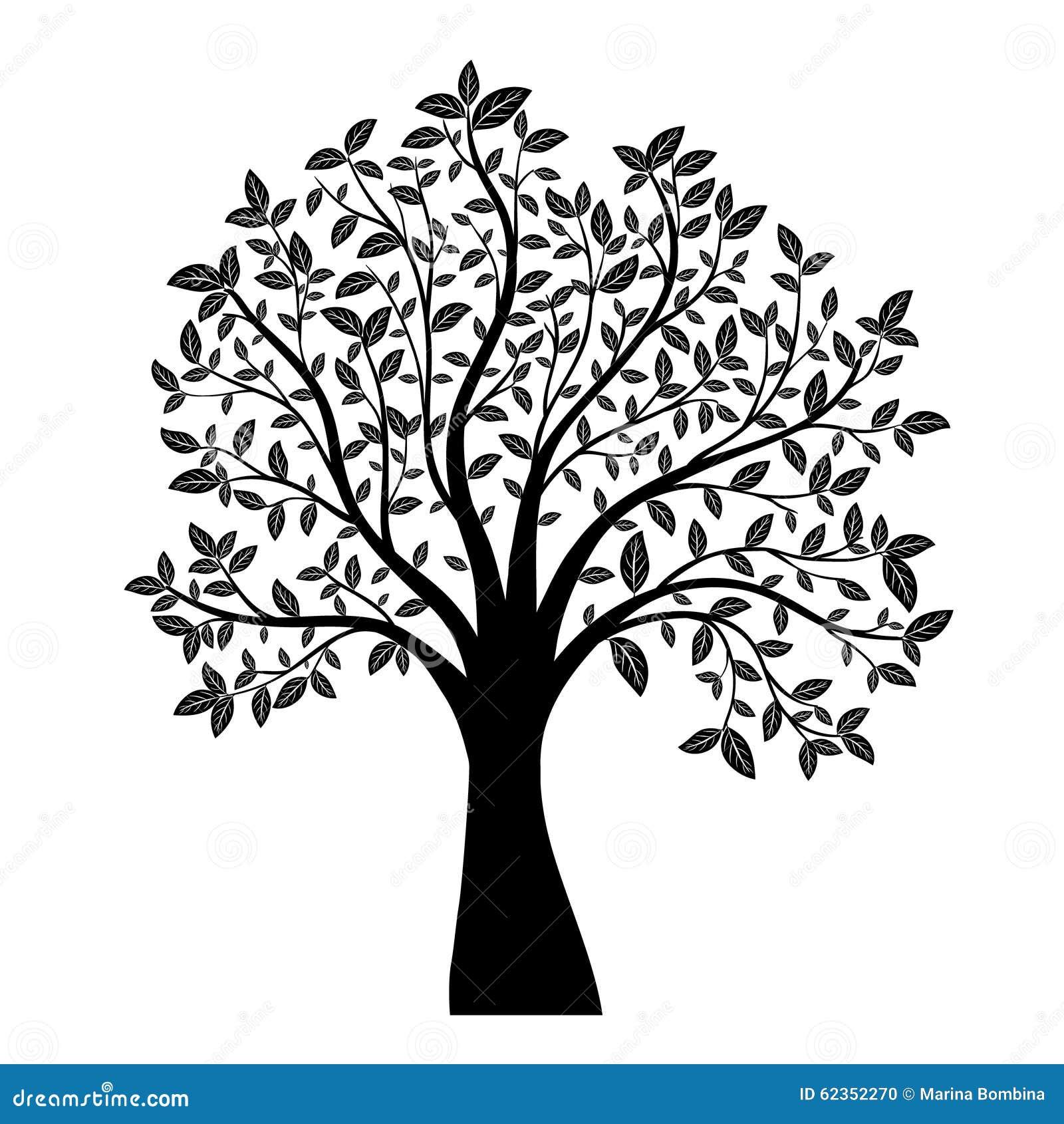 tree silhouette stock vector illustration of icon