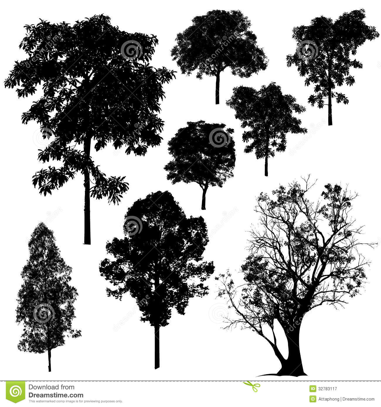 Vector Illustration Tree: Tree Silhouette Vector Stock Vector. Image Of Drawing