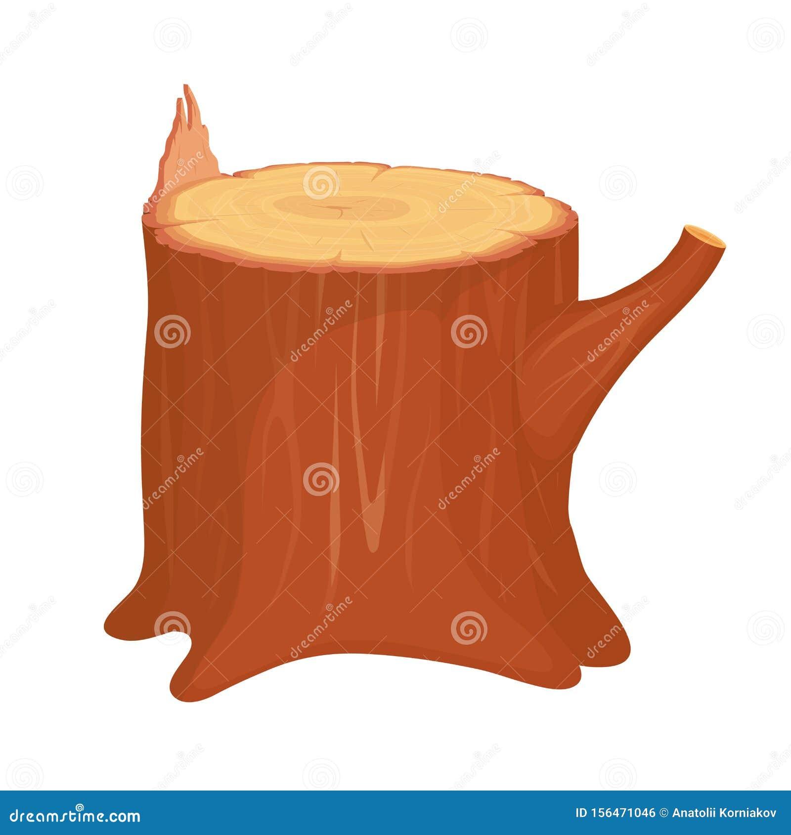 Tree Stump Cartoon Tree Stump On White Background Stock Vector Illustration Of Isolated Fuel 156471046