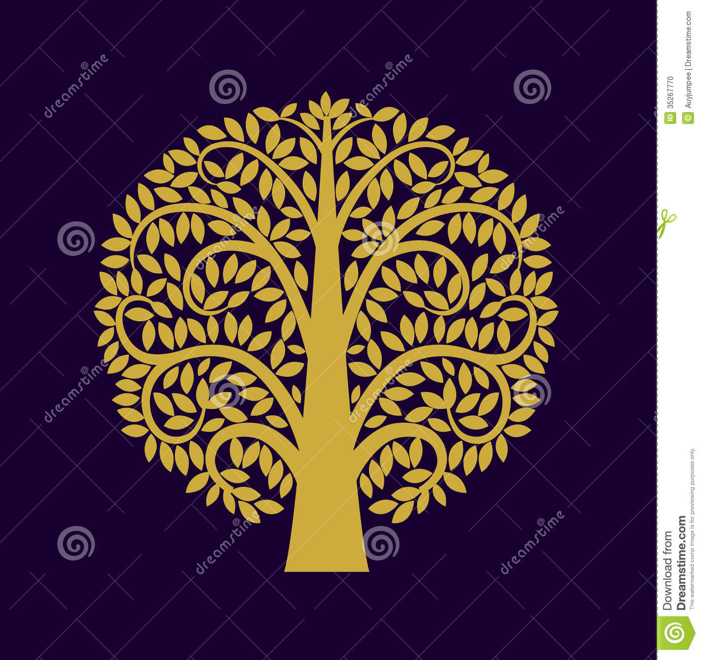 Tree symbol Asia style stock vector. Illustration of ...
