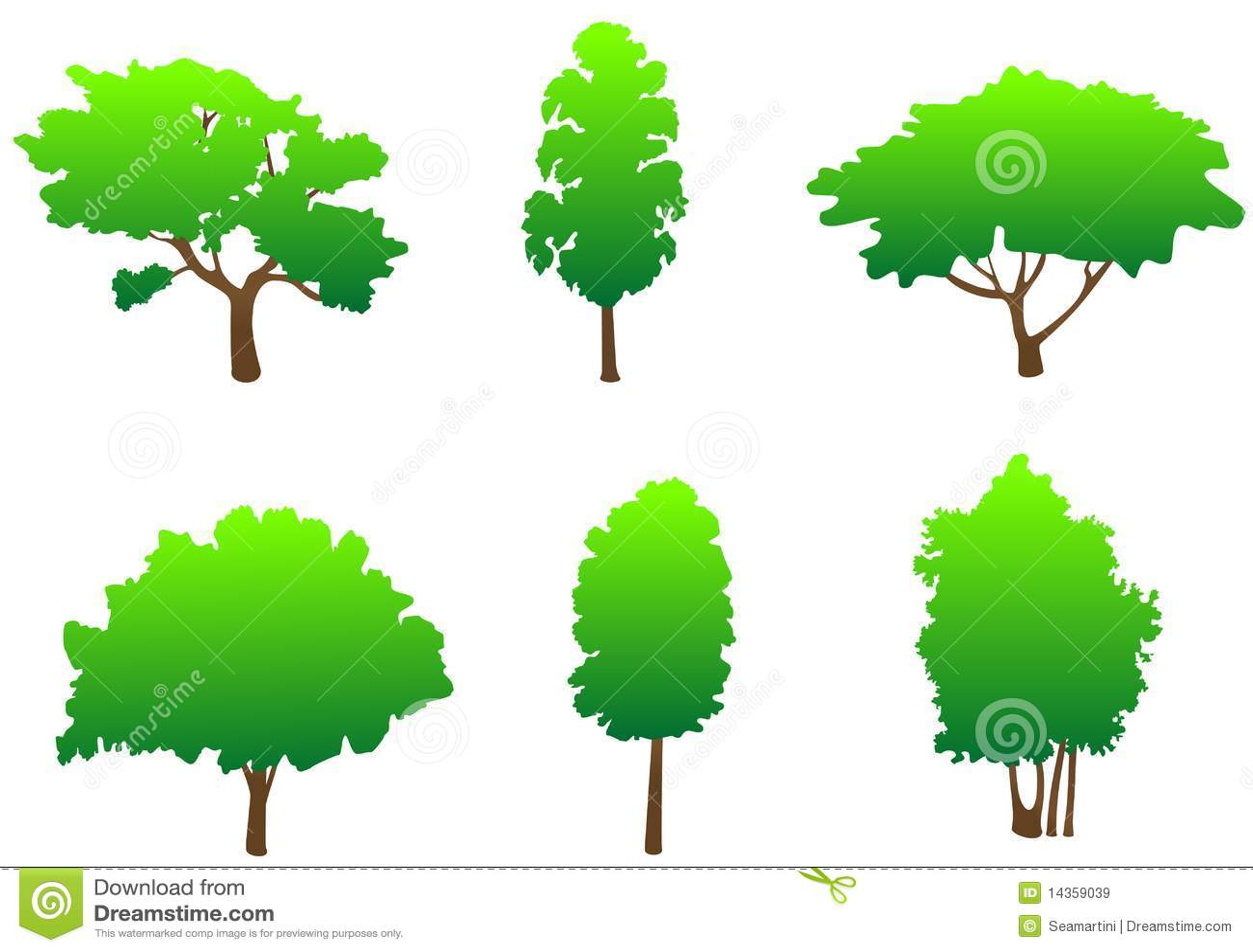 Tree Symbols Royalty Free Stock Images Image 14359039