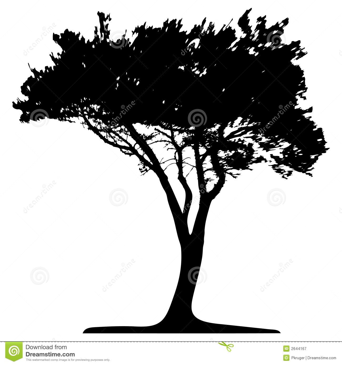 Pine Tree Stencil Trees - this image is a vector