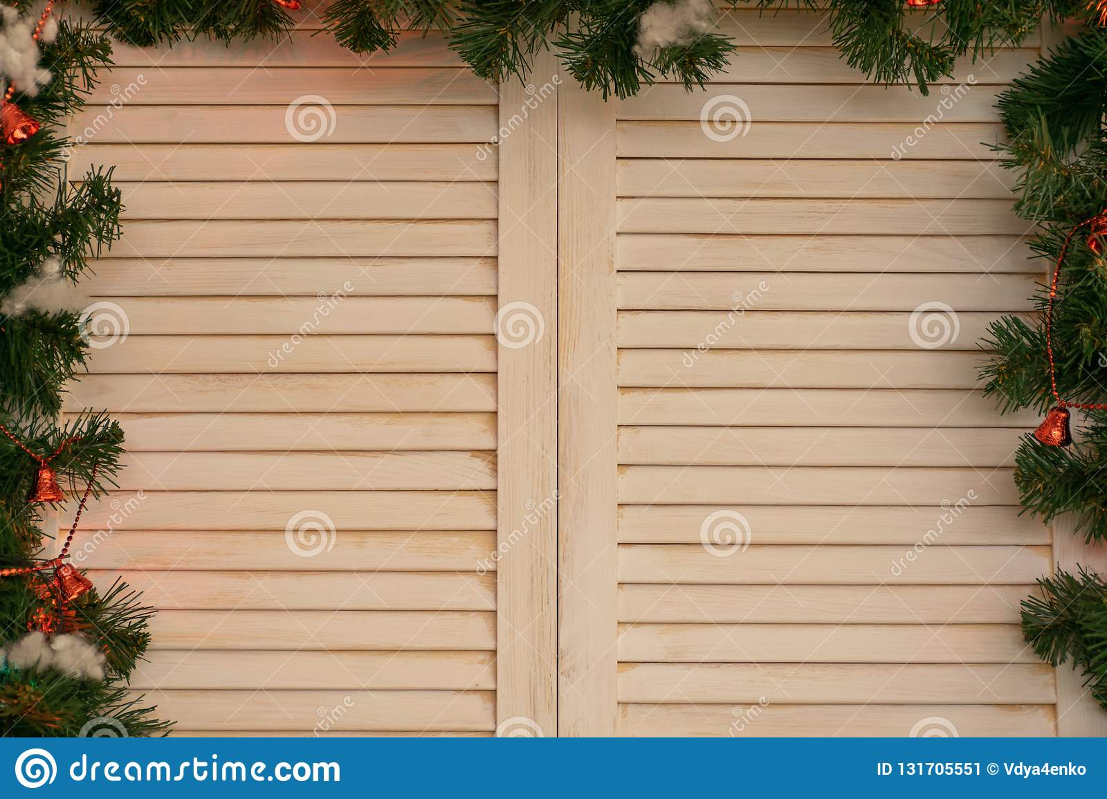 A tree window with Christmas decor