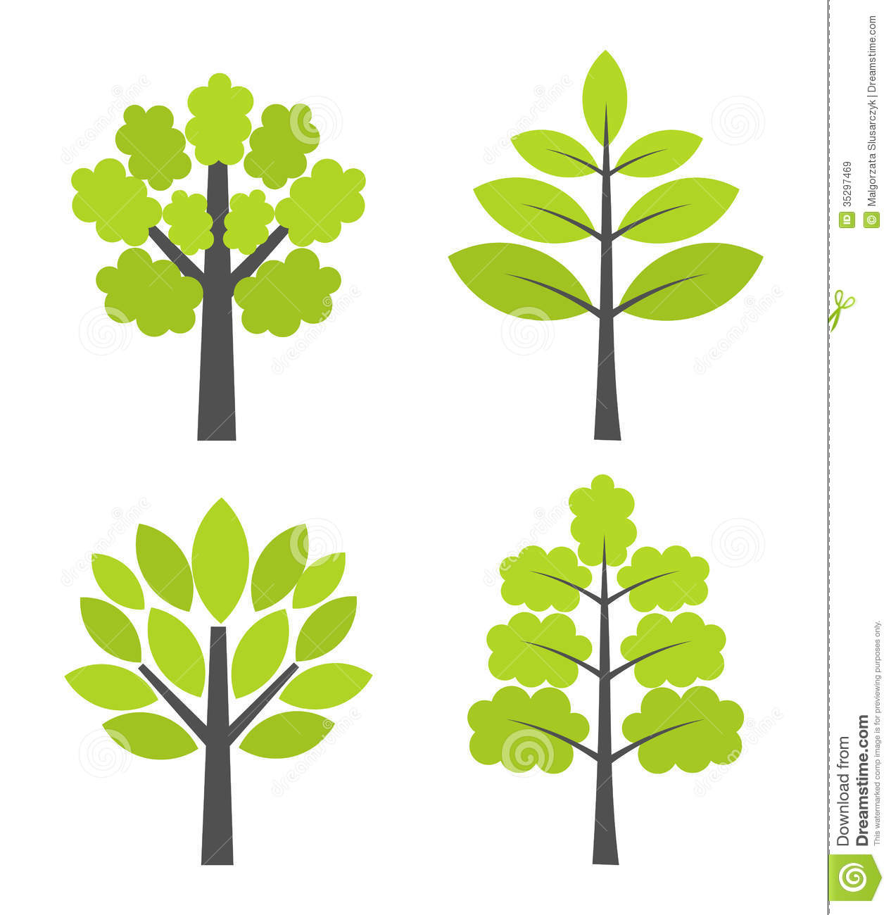 Trees Icons Royalty Free Stock Images - Image: 35297469