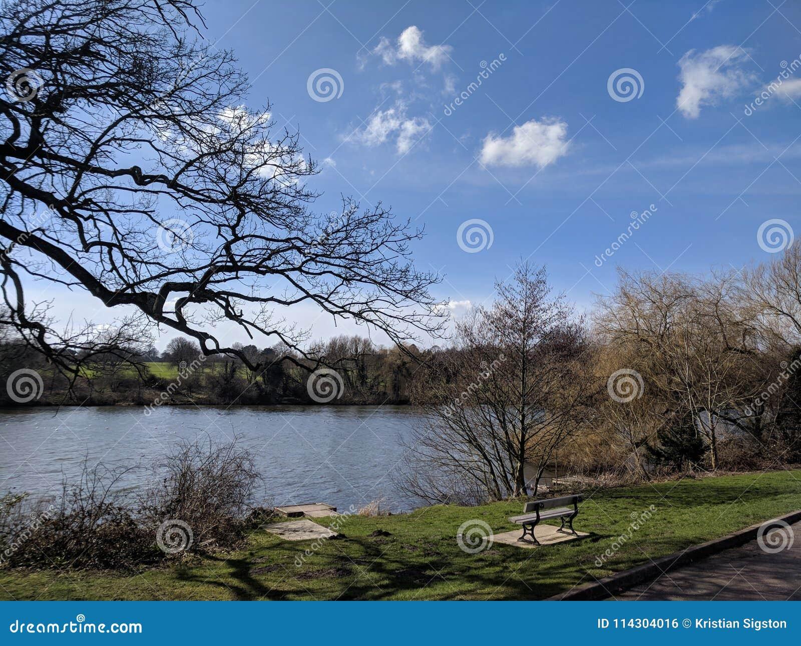 Landscape View At Moat Park, Maidstone, Kent, Medway, UK ...