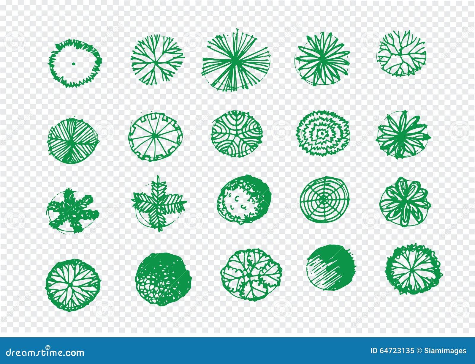 Landscape design top view vector elements vector for Garden design elements