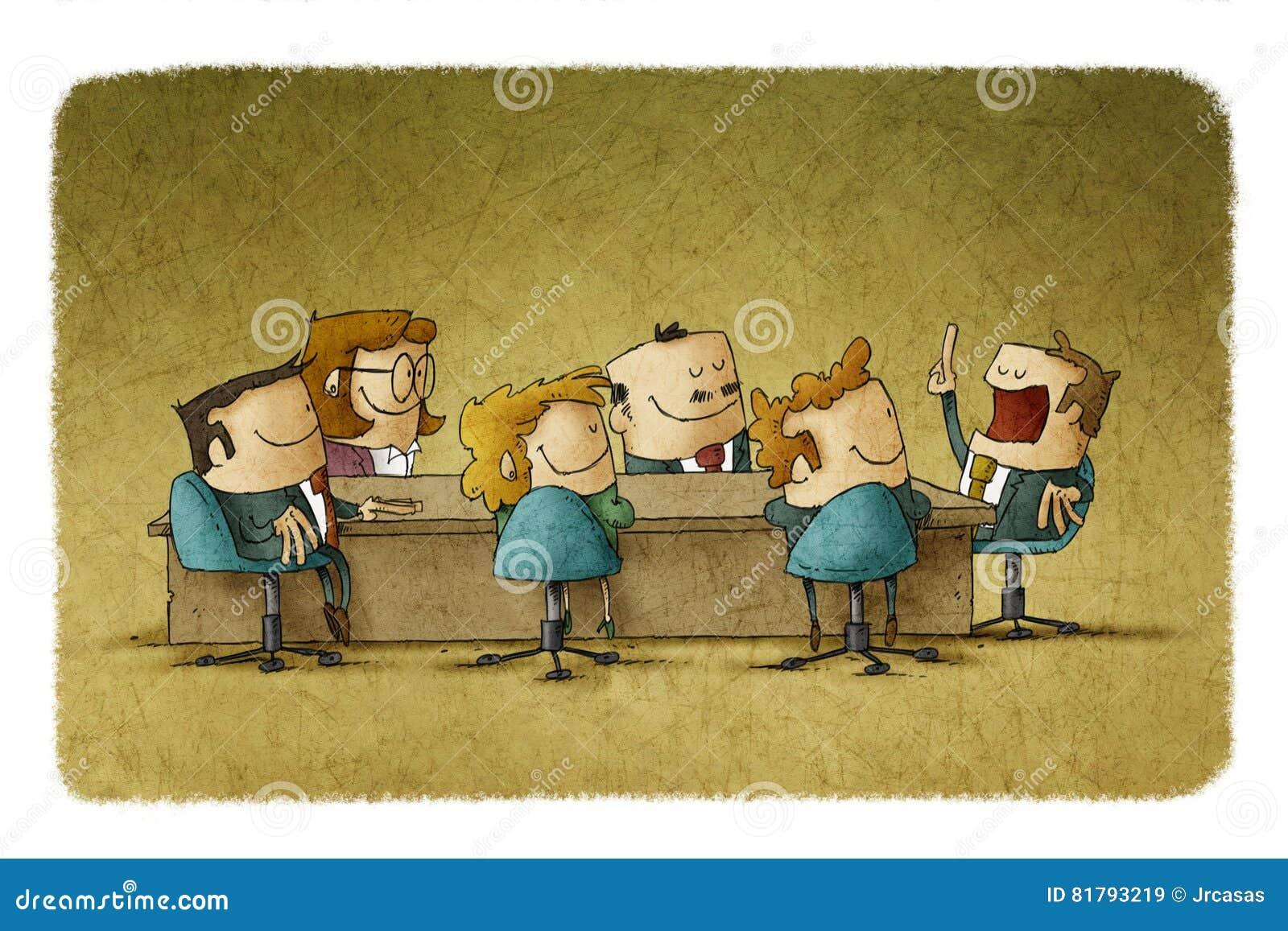 Treffen im Büro