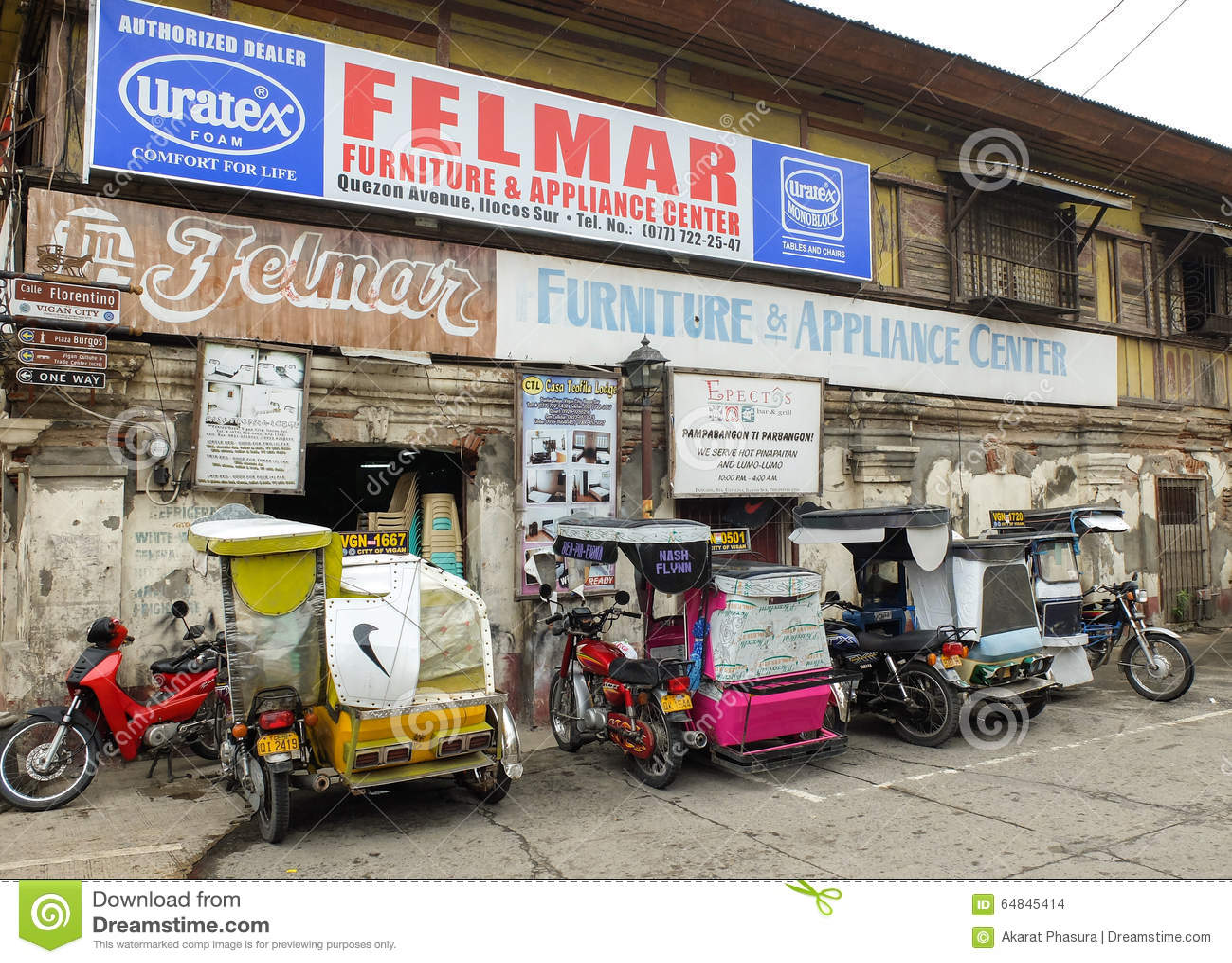 Trehjulingar i historisk stad av Vigan