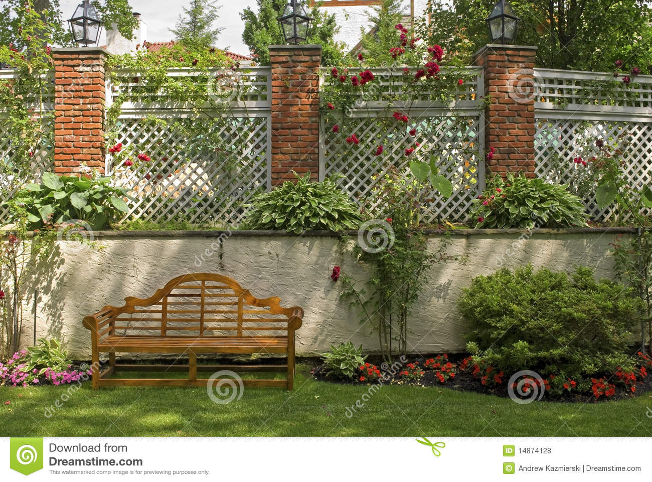 Treillis de jardin photos libres de droits image 14874128 for Treillis jardin