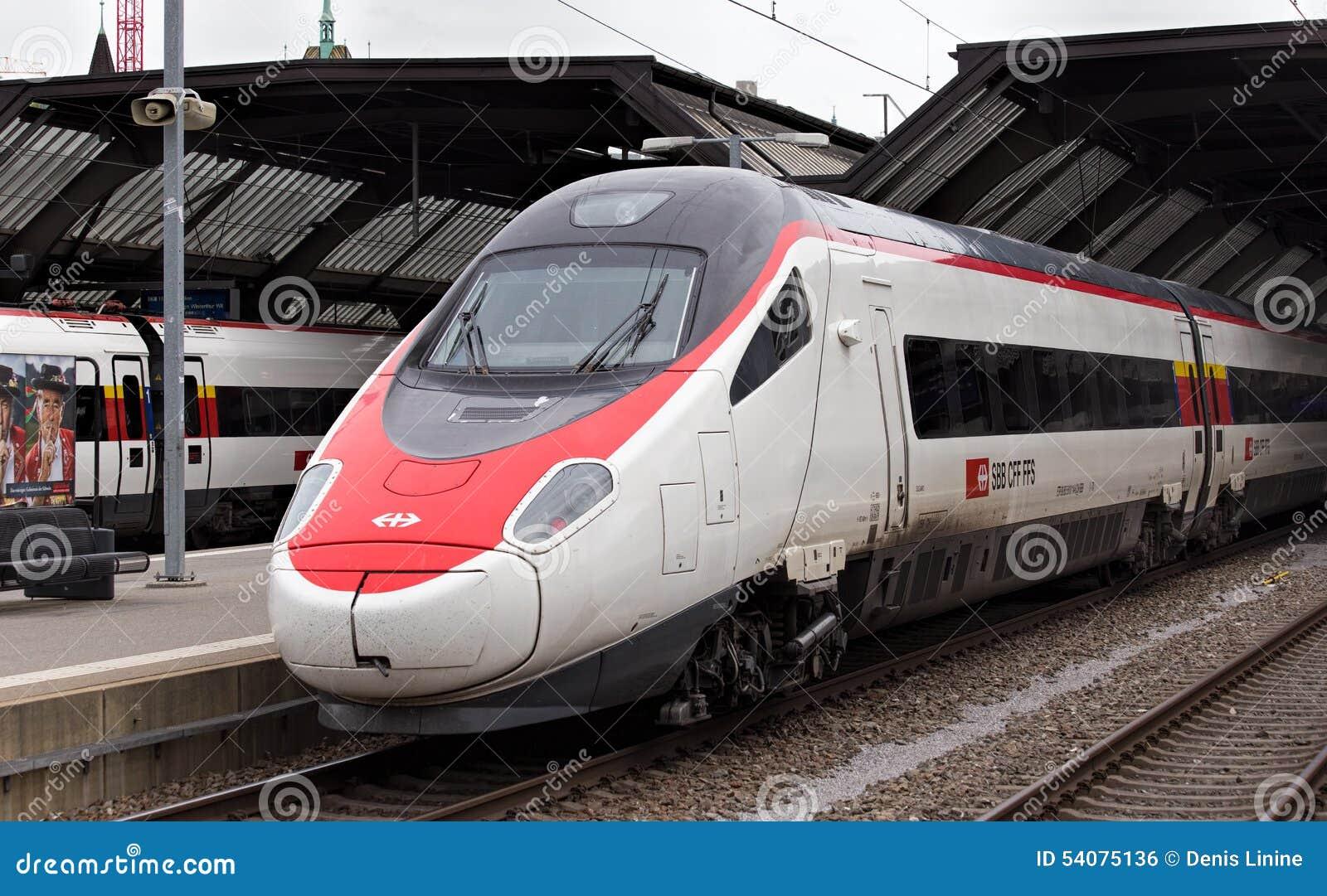 Trein bij het Belangrijkste station van Zürich